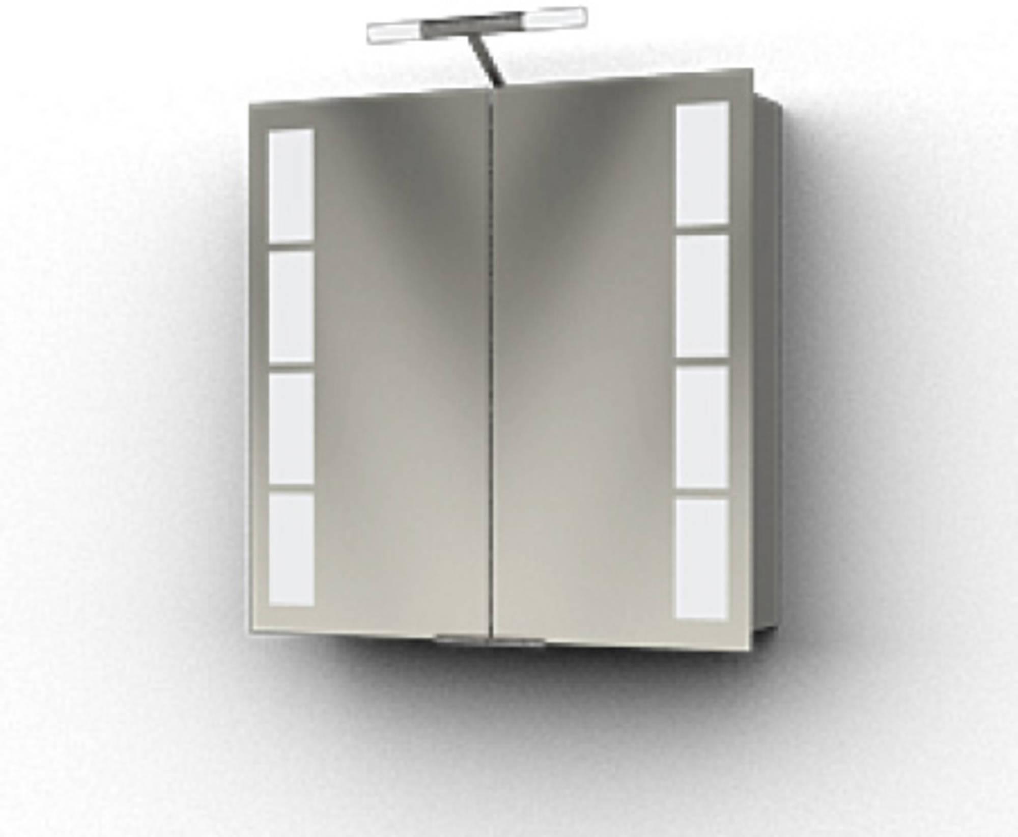 Ben Magno Spiegelkast Aluminium 75cm met staafverlichting