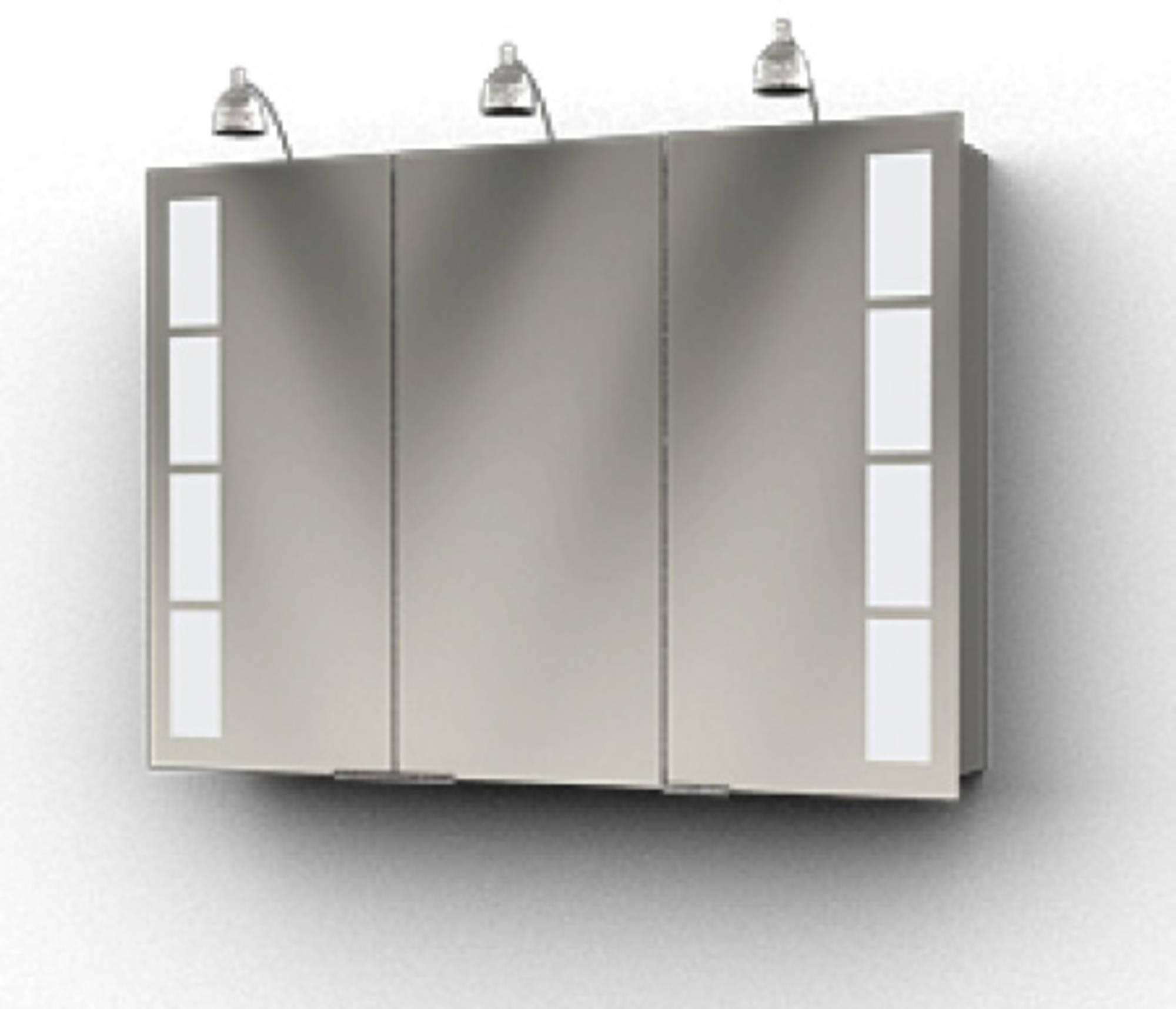 Ben Magno Spiegelkast Aluminium 105cm met 3 spotjes