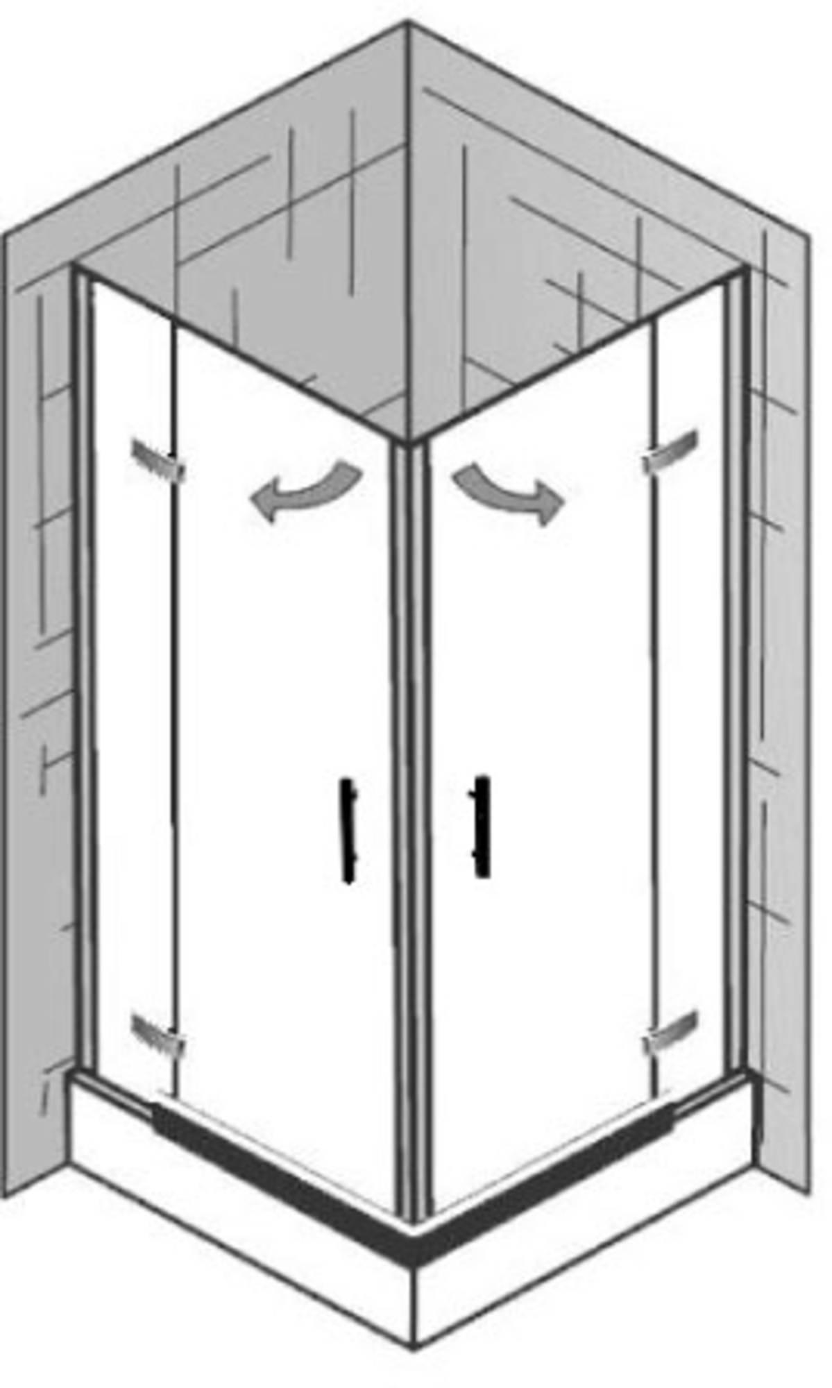 Ben Martino II Draaideur voor nis 80x200cmChroom/Helder glas