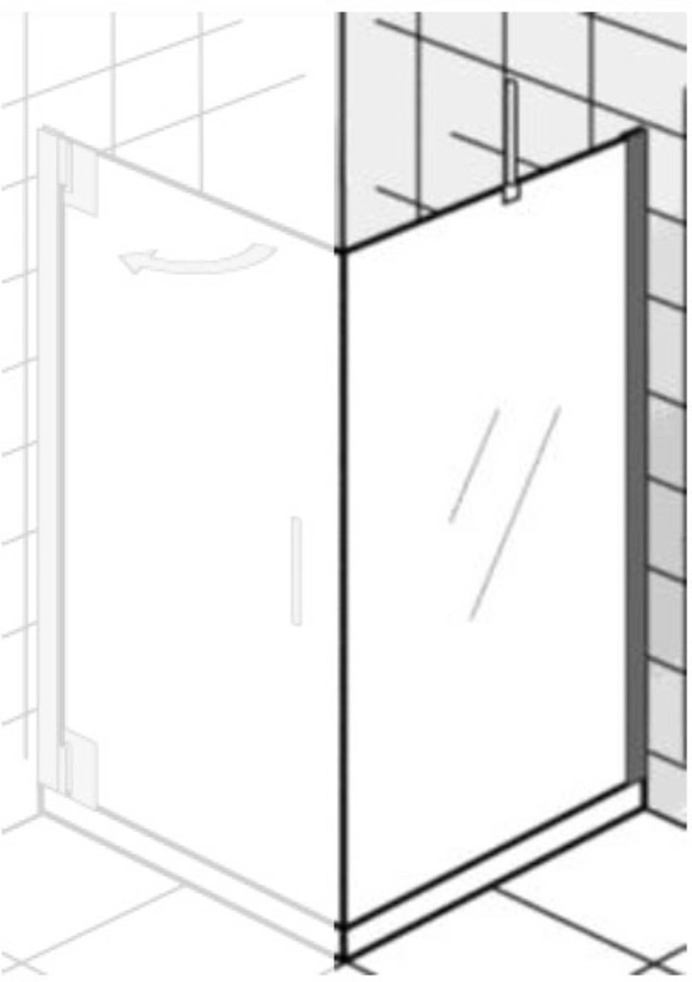 Ben Futura Zijwand 80x200cm Chroom - Helder Glas