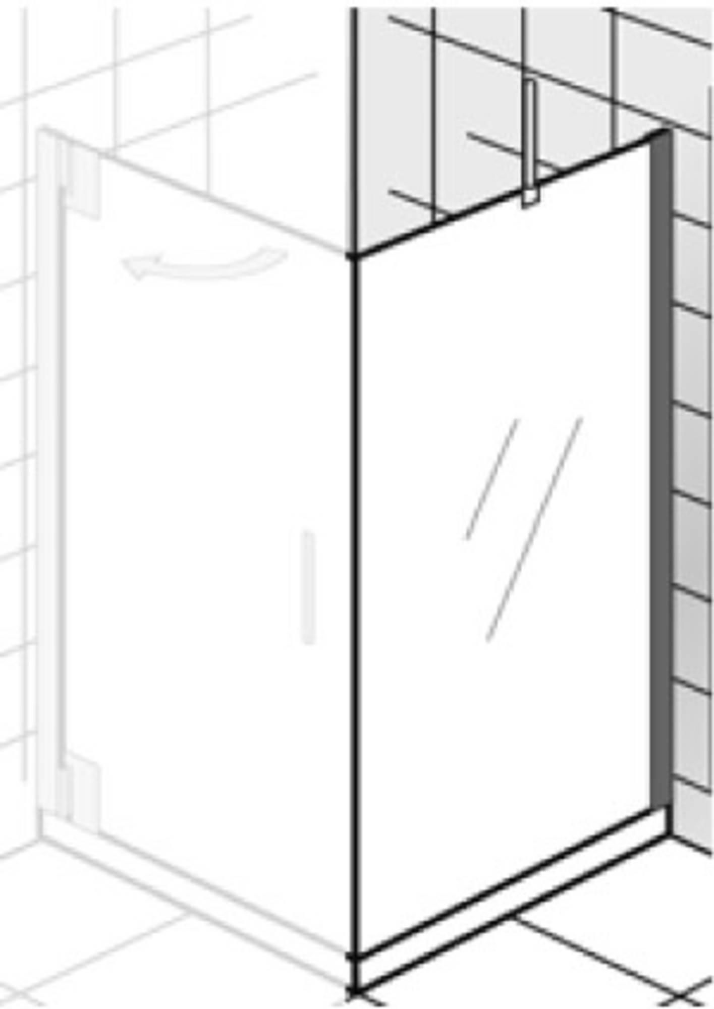 Ben Futura Zijwand 100x200cm Chroom - Helder Glas