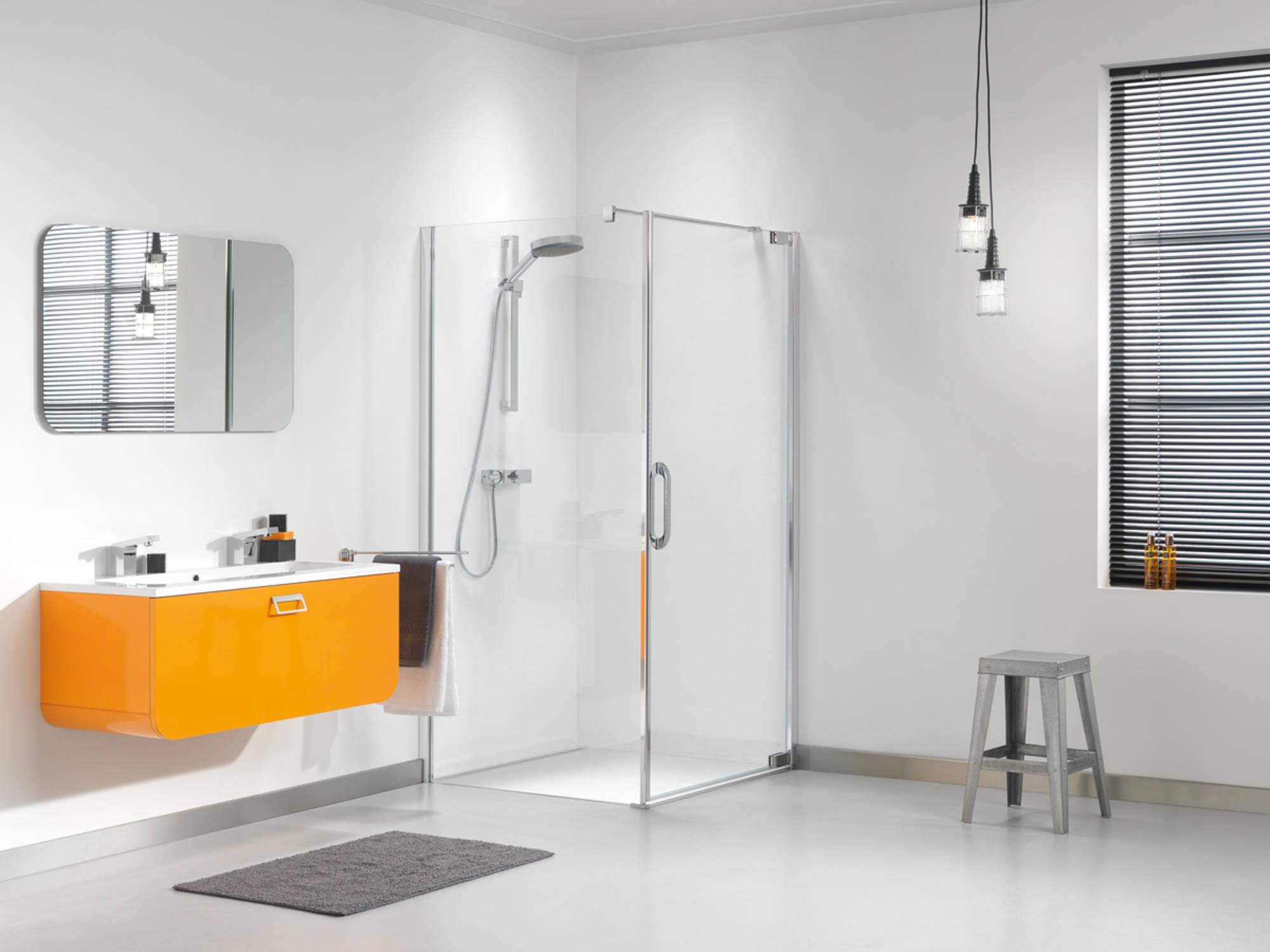 Sealskin Get Wet Impact swingdeur met zijwand 90x195 cm chroom/zilver hoogglans helder glas