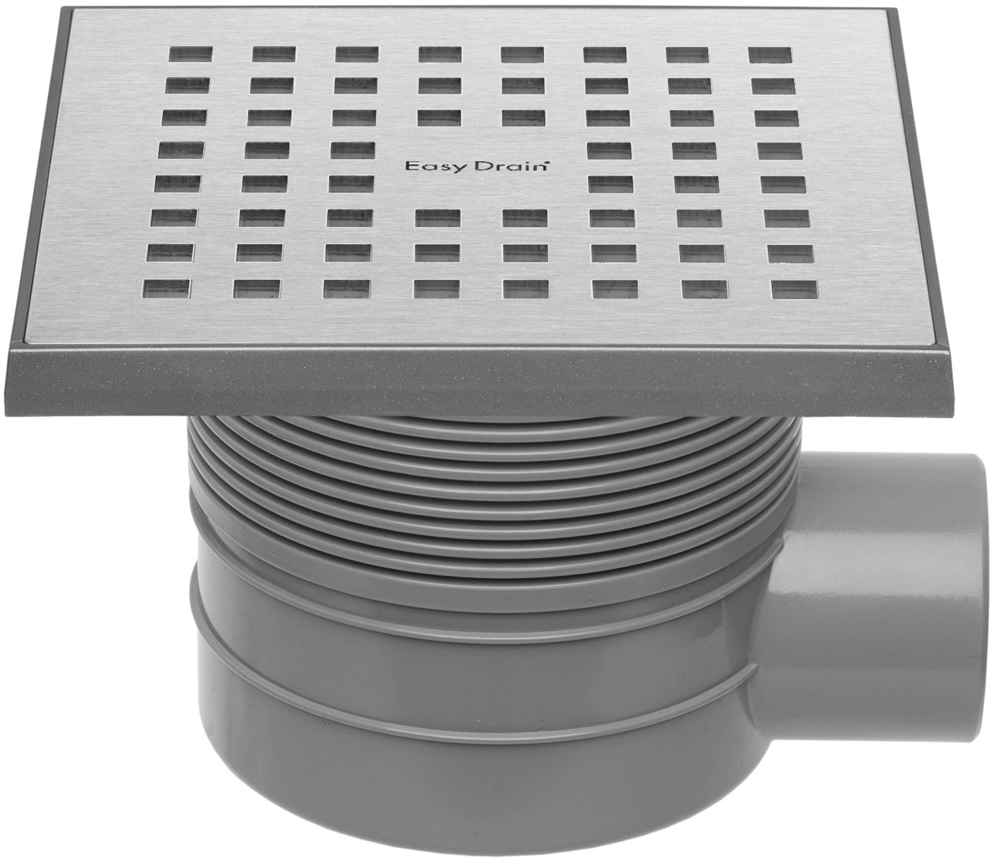 Easy Drain Aqua Quattro vloerput abs 15 x 15 cm. horizontaal