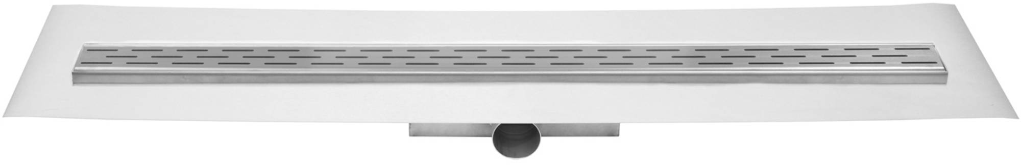 Easy Drain Compact FF 30 afvoergoot 6x80 cm zijuitlaat met afdichtingsdoek RVS