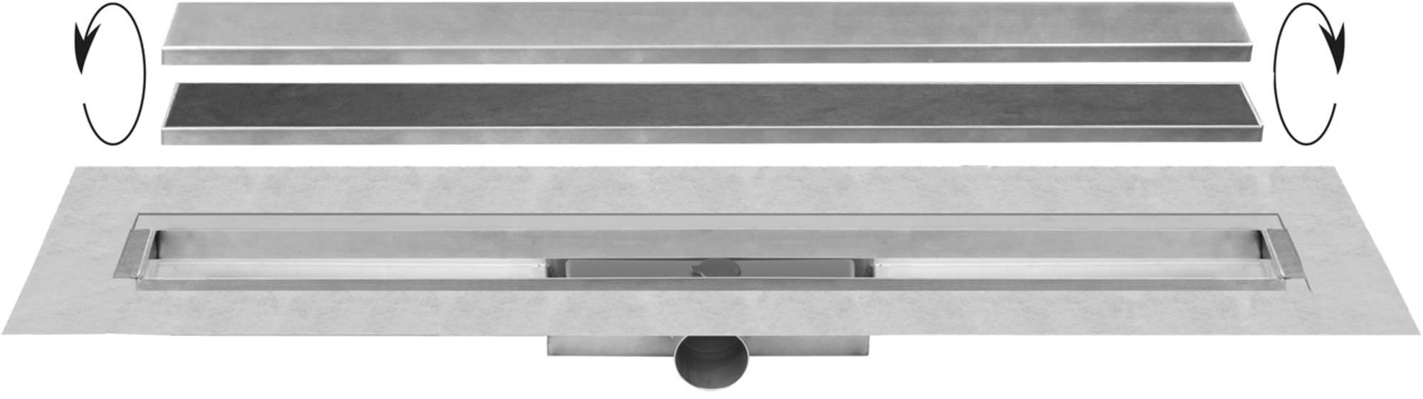 Easy Drain Compact 30 TAF Wall afvoergoot 70 x 6 cm. zijaansluiting Rvs