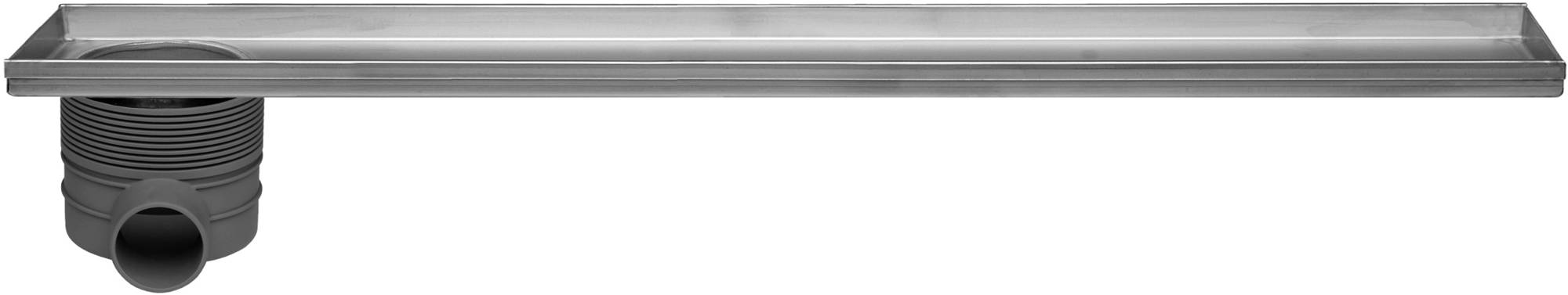 Easy Drain Multi inbouwdeel 9x90cm met zij uitloop RVS