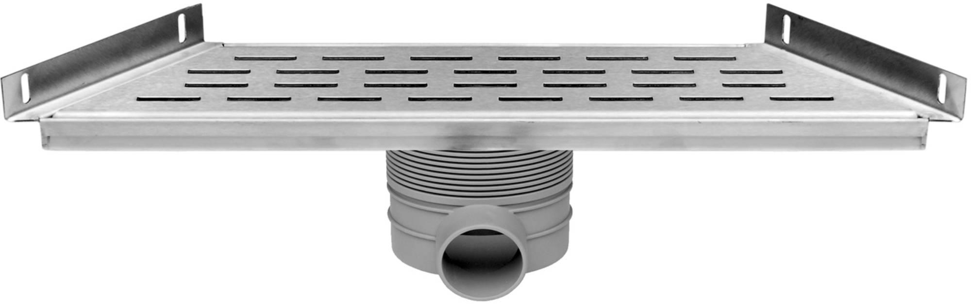 Easy Drain Multi trapezium goot 30x48,5x9,8 cm zijuitlaat RVS
