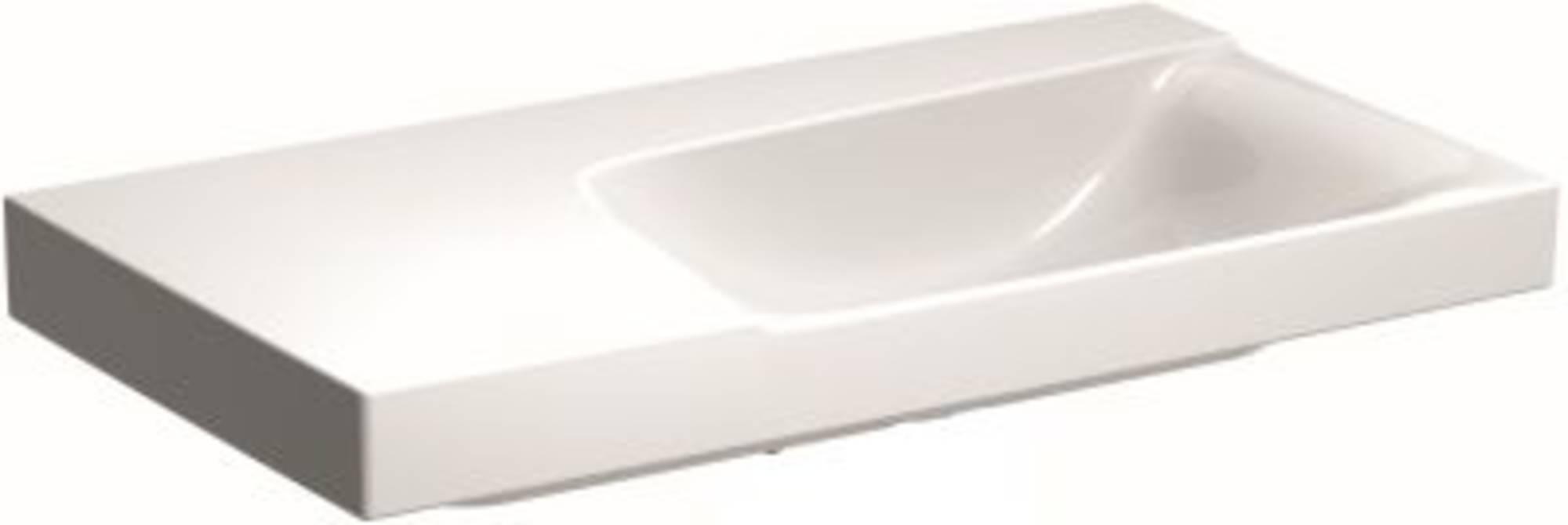 Sphinx Serie 420 new wastafel rechts 90x48 cm, afleg links zonder kraangat, wit