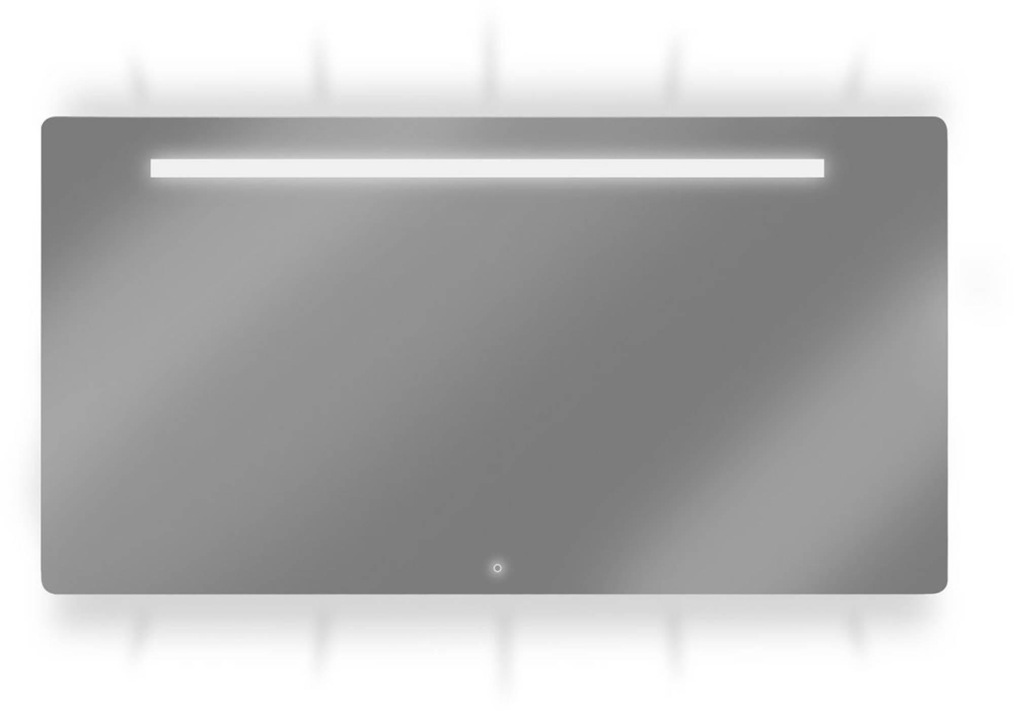 Looox Ml-line spiegel 140x70 led verl.onder+boven+geintegreerd