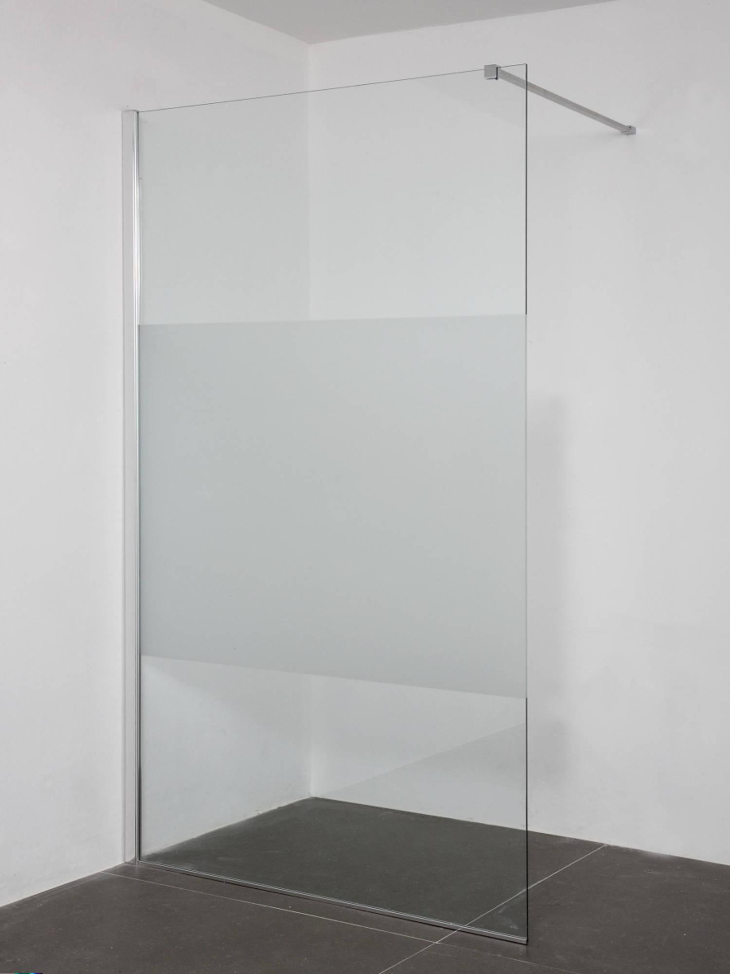 Saniselect Zissa Inloopdouche 120x200cm links Aluminium Gepolijst