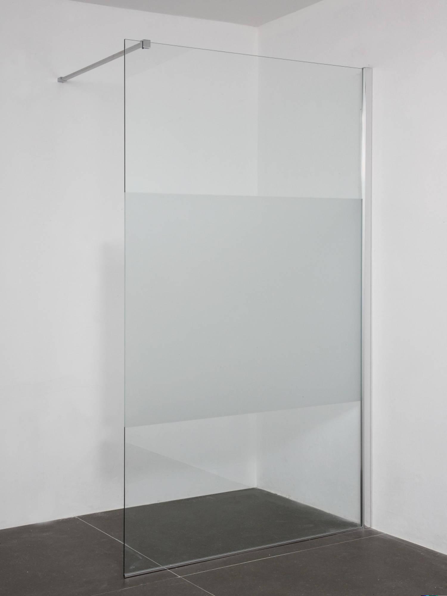 Saniselect Zissa Inloopdouche 120x200cm rechts Aluminium Gepolijst