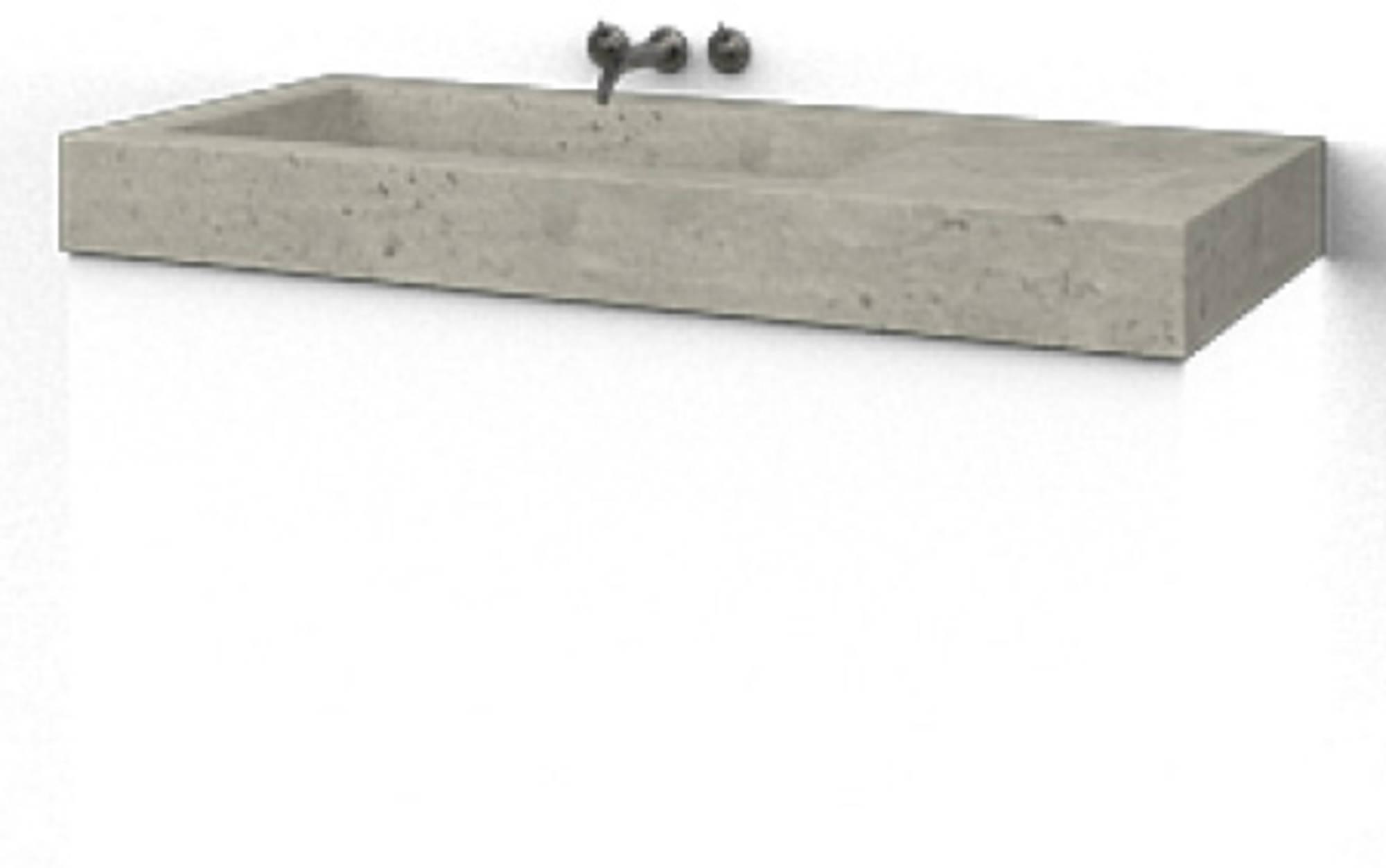 Ben Vitra Meubelwastafel enkel 120x51,5cm Beton Bak Links