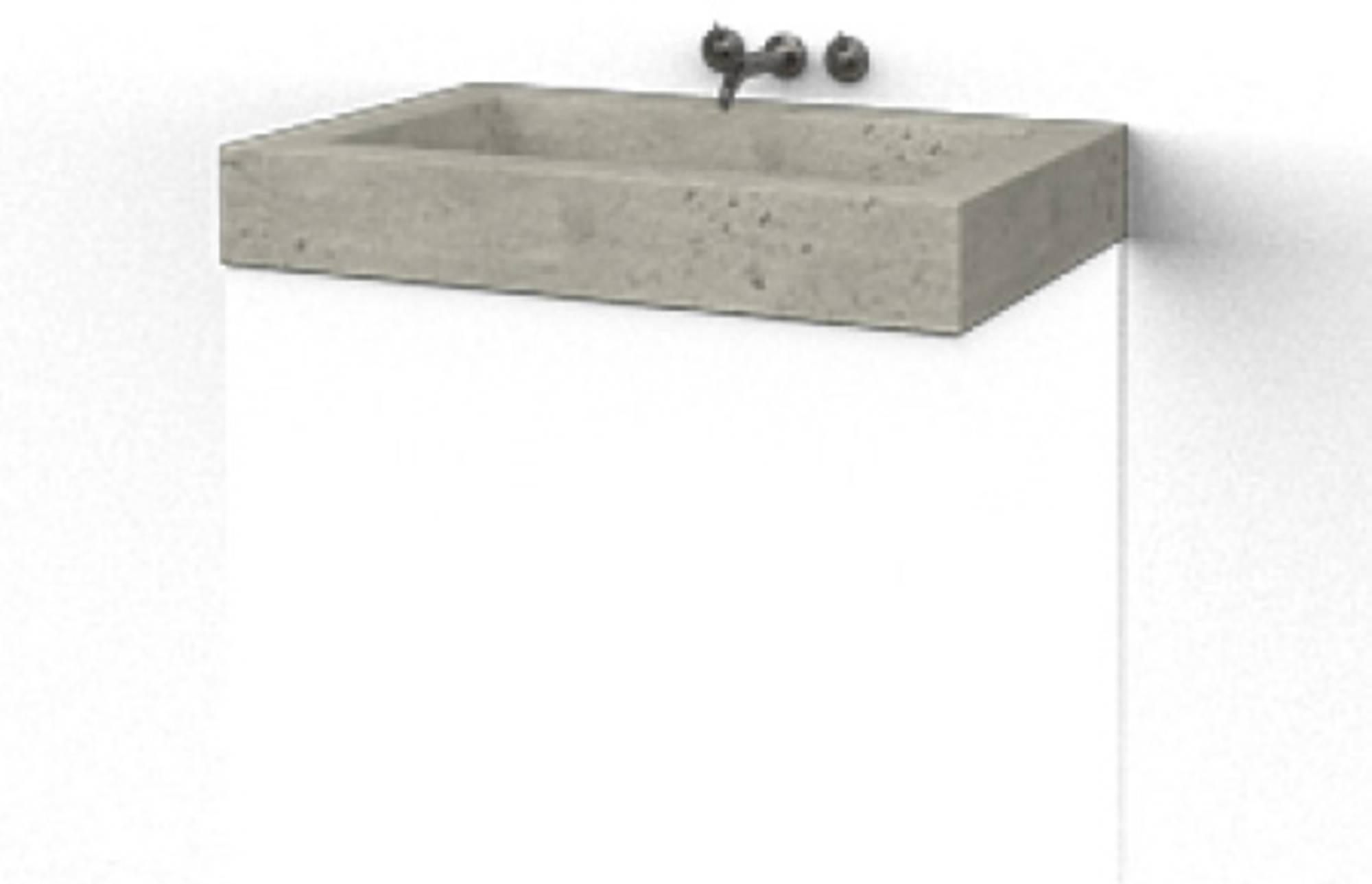 Ben Vitra Wastafel enkel 80x51,5cm Beton