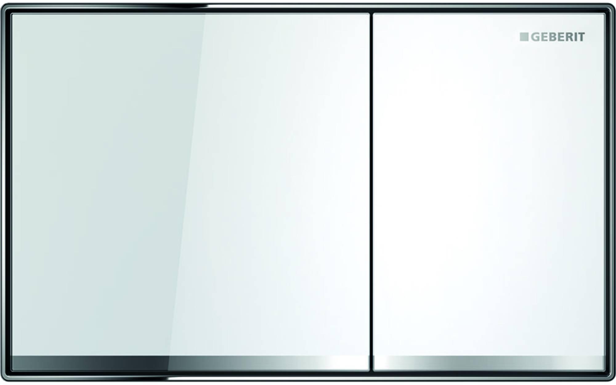 Geberit Sigma 60 bedieningsplaat tweeknops glas wit