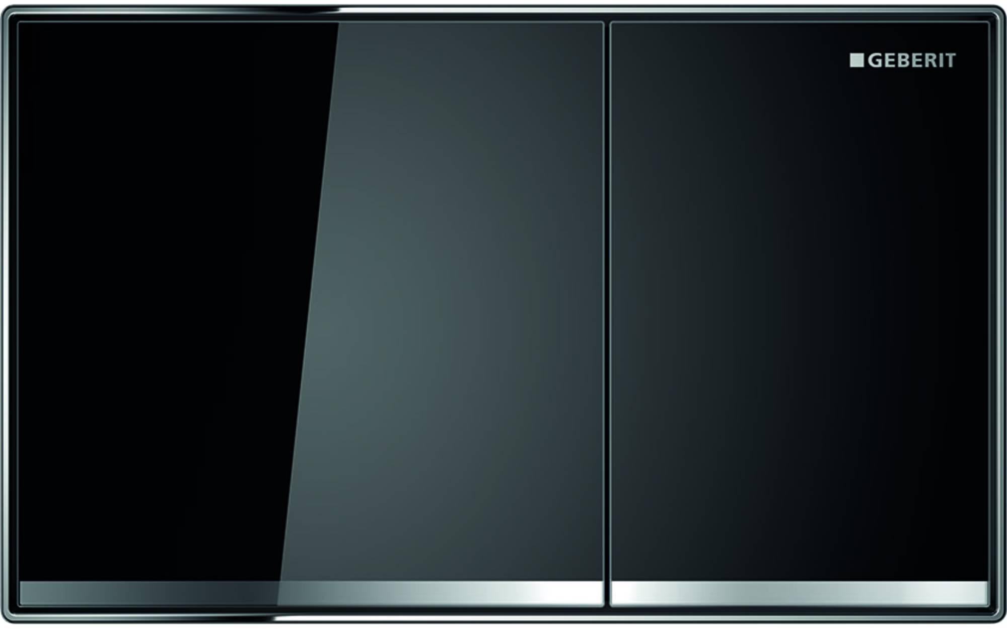 Geberit Sigma 60 bedieningsplaat tweeknops glas zwart