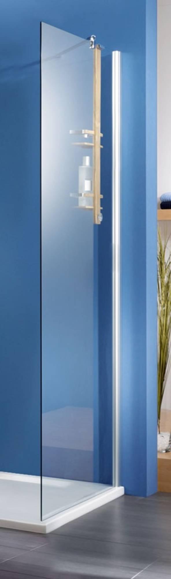 Ben Moon Zijwand 70x200cm Chroom - Helder Glas