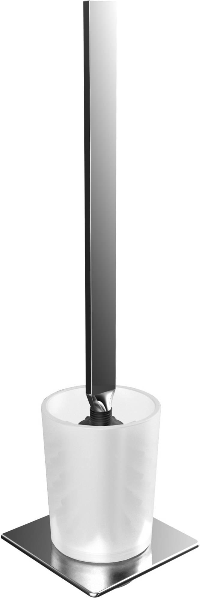 Emco Art Closetborstelgarnituur Gesatineerd Glas Wandmodel Chroom