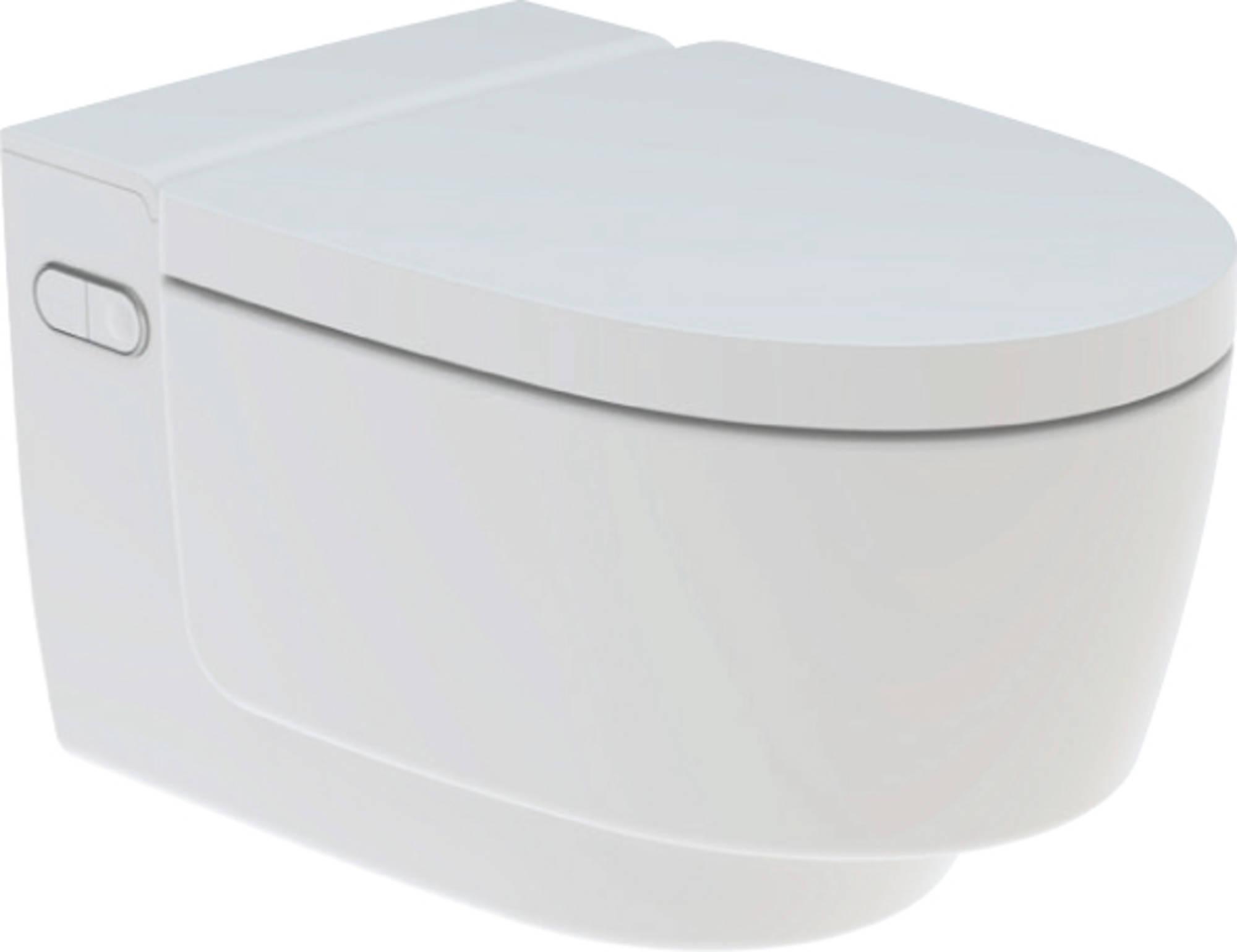 Productafbeelding van Douche WC Geberit AquaClean Mera Classic met Geurafzuiging Warme Luchtdroging en Ladydouche met Softclose en Deksel Wit