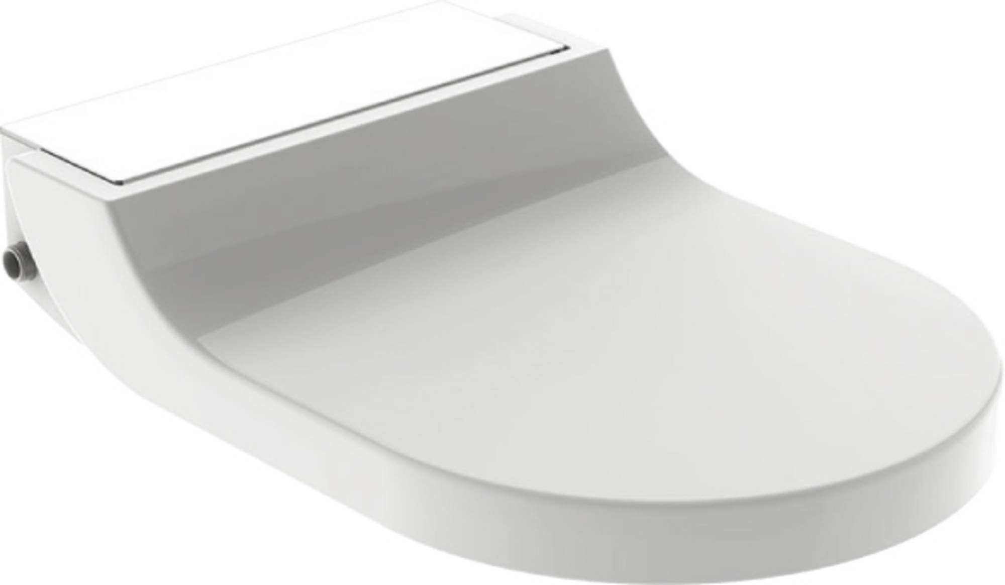 Productafbeelding van Geberit AquaClean closetzitting Tuma Comfort decorplaat Wit glas