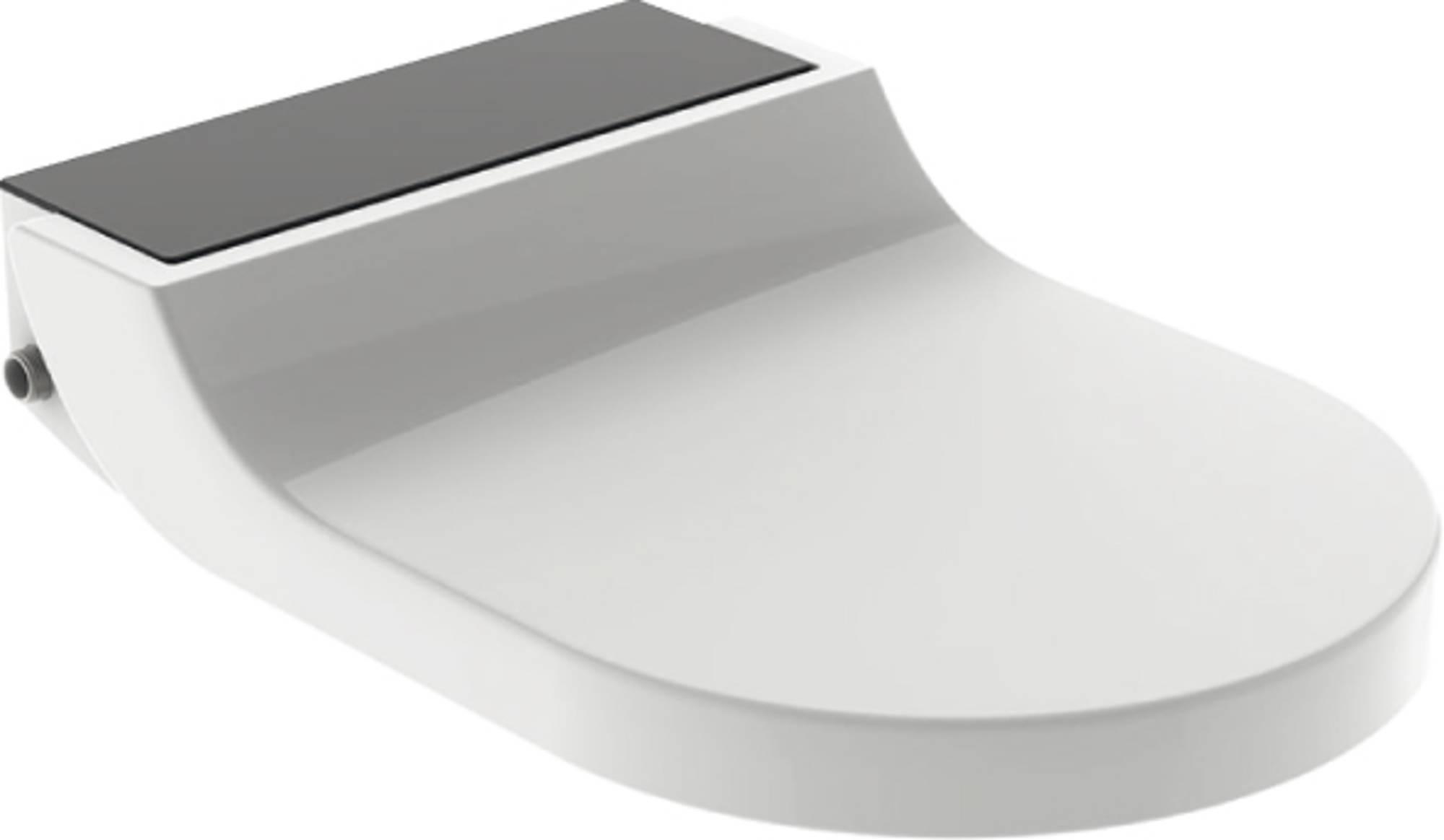 Productafbeelding van Geberit AquaClean closetzitting Tuma Comfort decorplaat Zwart glas