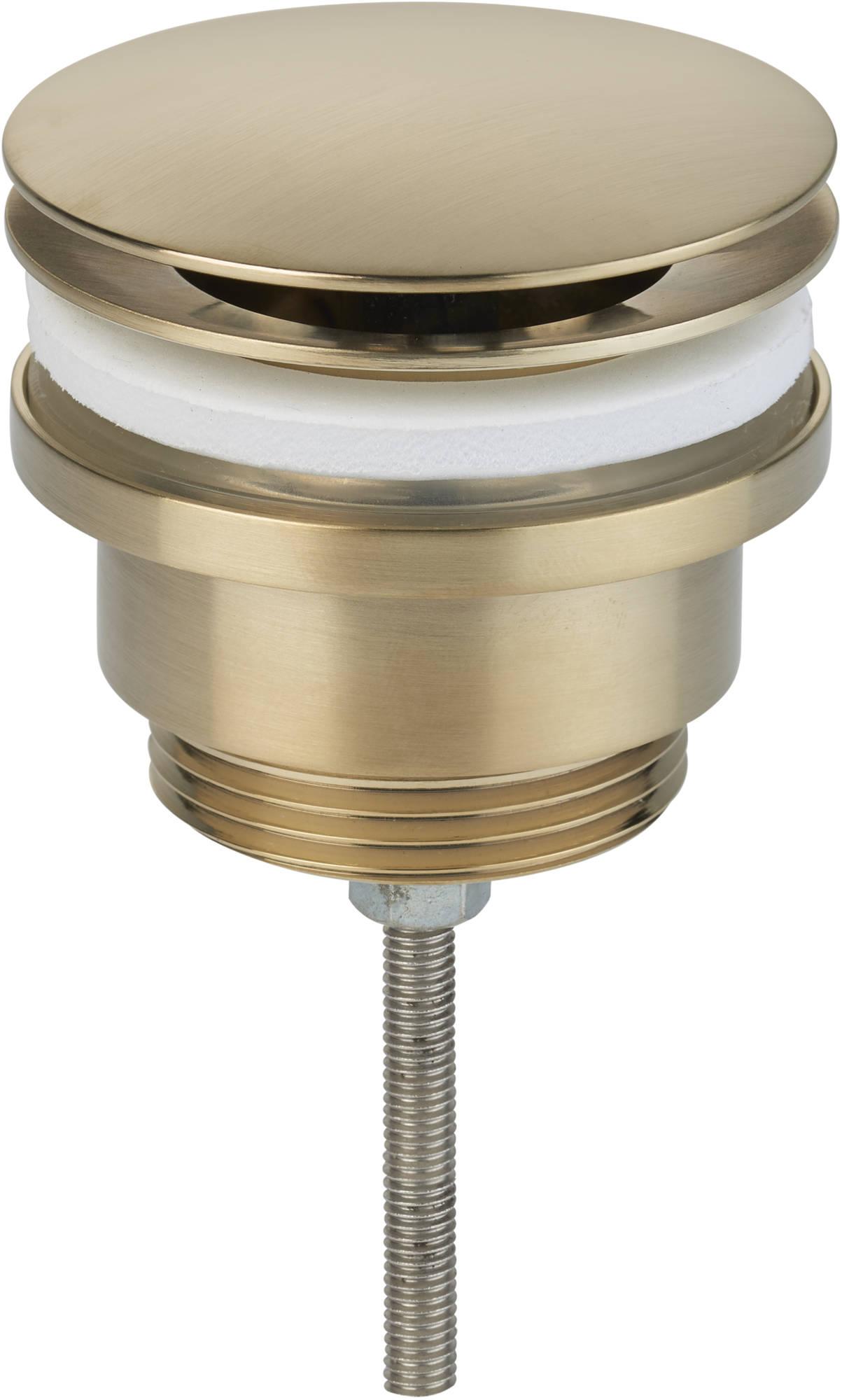 Ben Fixed Wastafelplug altijd open 5/4 inch Geborsteld Messing