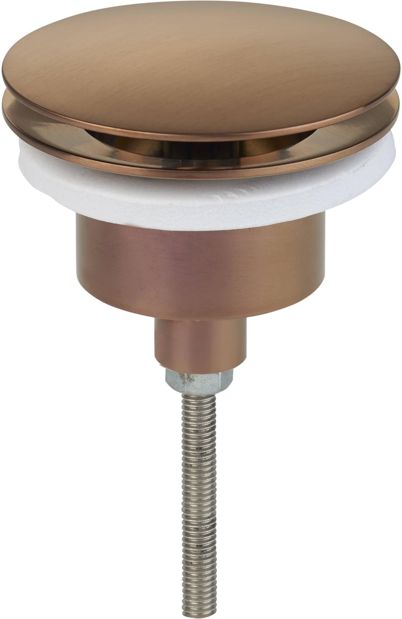 Ben Pop Up Wastafelplug altijd open 5/4 inch Geborsteld Koper