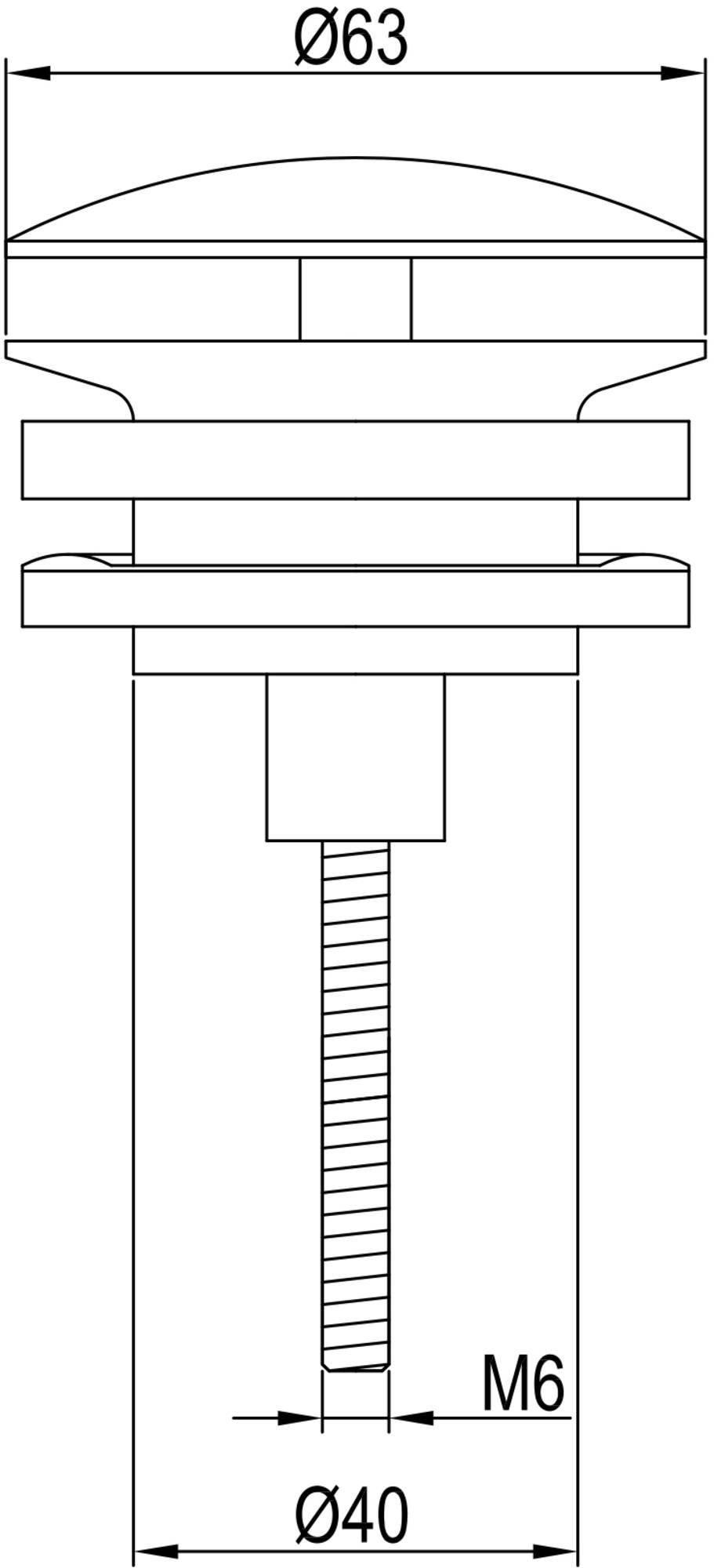 Ben Pop Up Wastafelplug altijd open 5/4 inch Geborsteld Messing