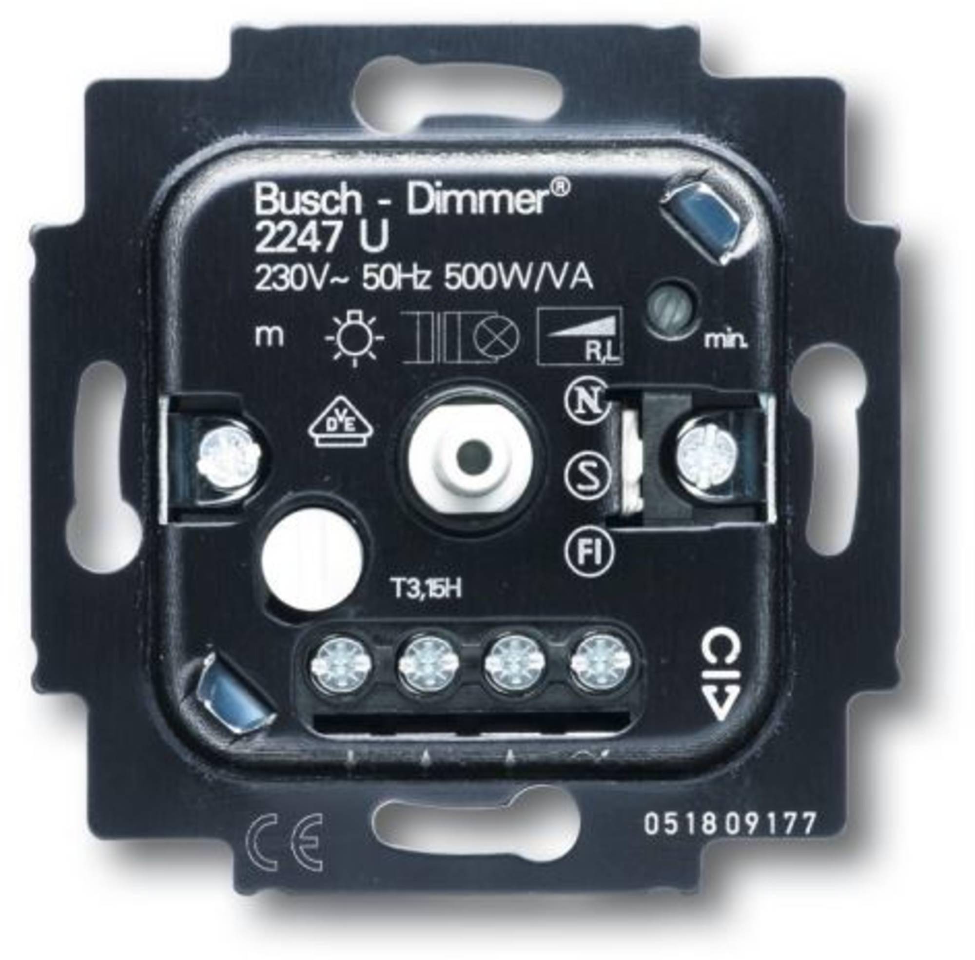 Busch Jaeger Dimmer 20-500 W Inbouw