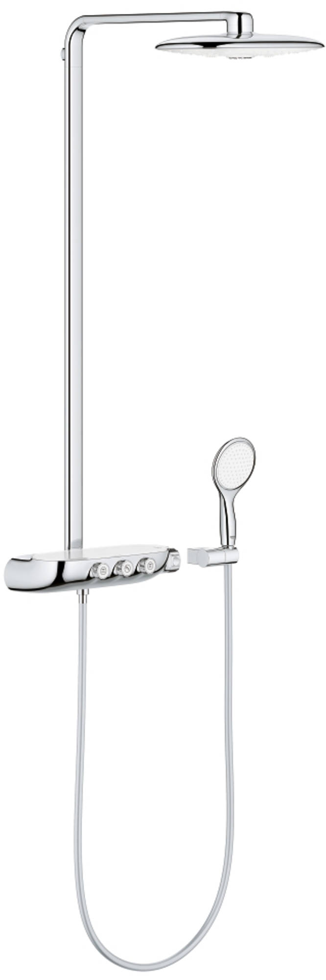 Grohe Rainshower Smartcontrol Douchesysteem 360 duo met Thermostaat Moon White