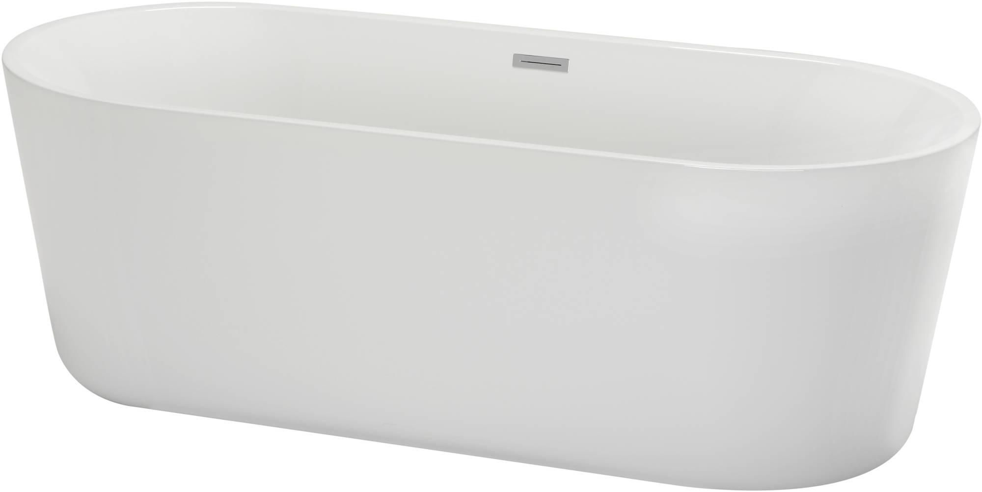Saniselect Ligbad vrijstaand met waste 178x80 cm wit