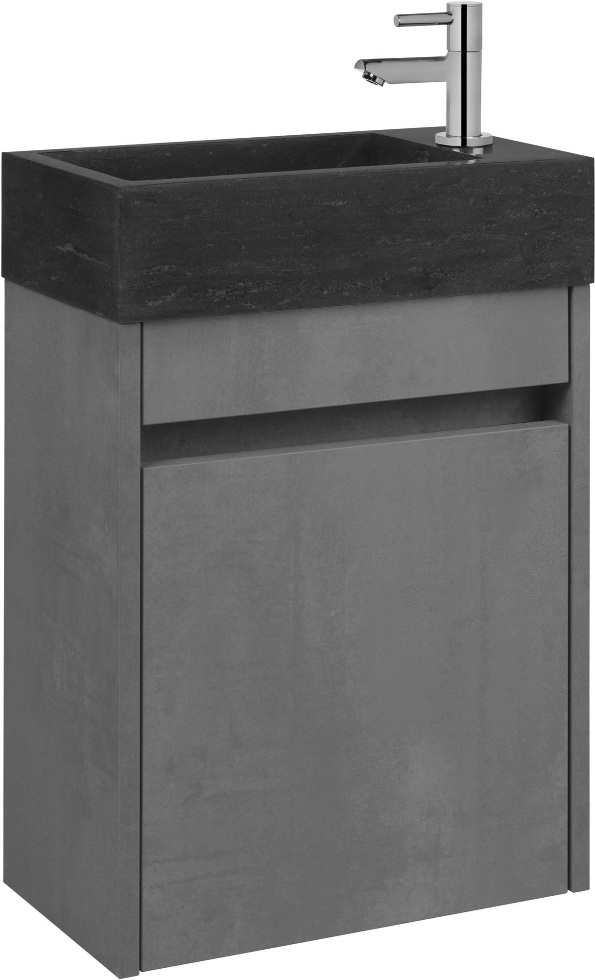 Saniselect Sana Fonteinmeubelset rechts beton grijs/hardsteen