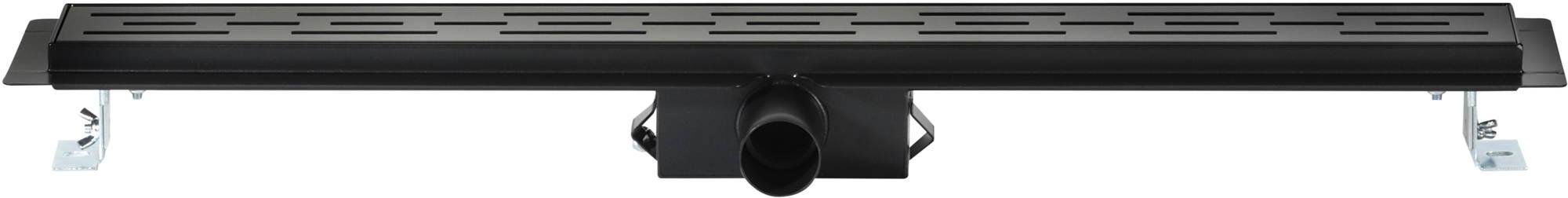 Saniselect Douchegoot met Flens, Sifon en Filter 70x7 cm Zwart
