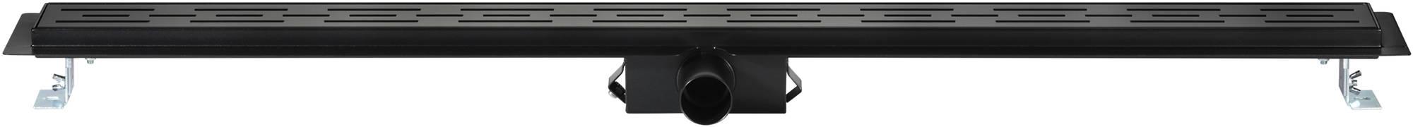 Saniselect Douchegoot met Flens, Sifon en Filter 100x7 cm Zwart