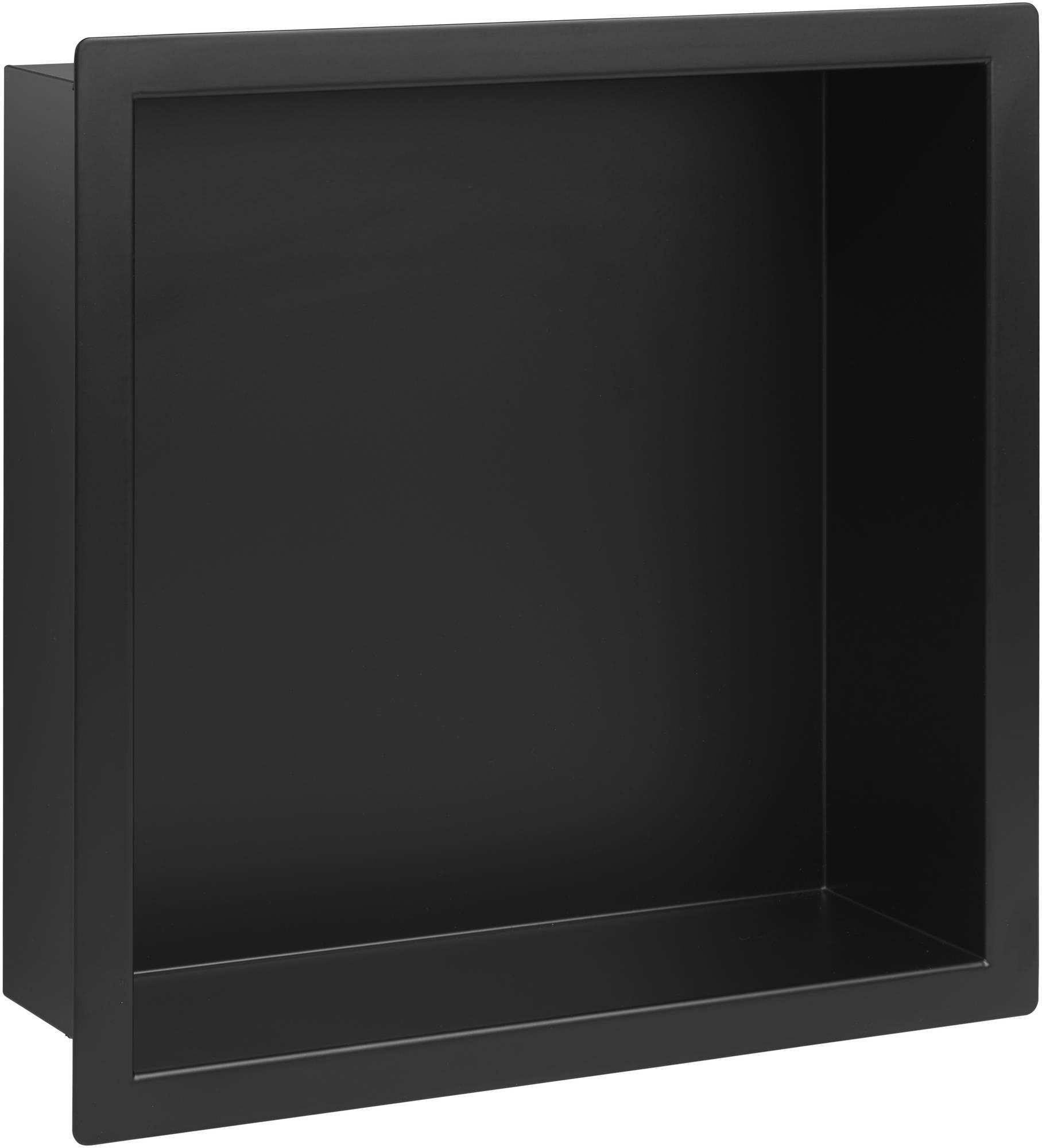 Saniselect Inbouwnis 30x10x30 cm Mat Zwart