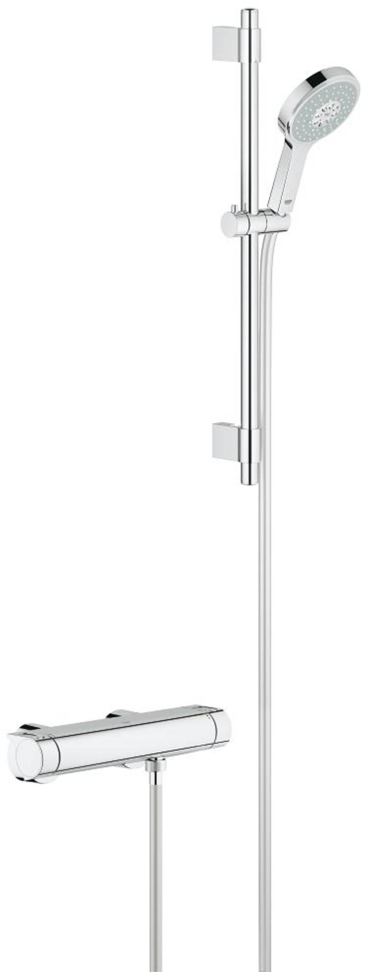 Grohe New Grohtherm 2000 Douchethermostaat met Power&Soul Doucheset Chroom