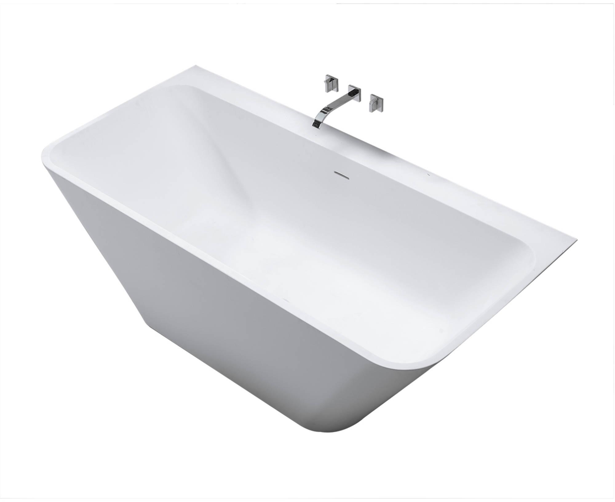 Saniselect bad semi-vrijstaand 179x84,5x57,5 cm Solid Surface Mat-wit