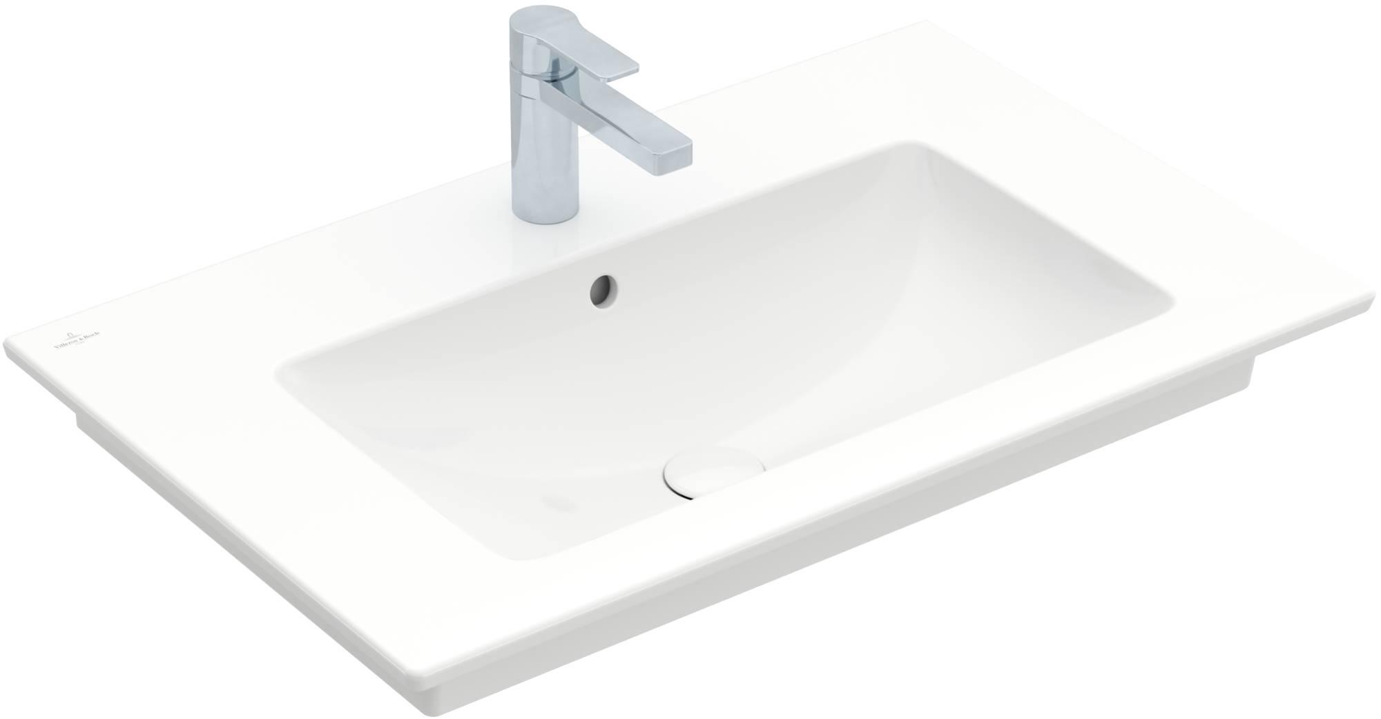 Villeroy & Boch meubelwastafel 80x50 cm. 1x kraangat m/overloop