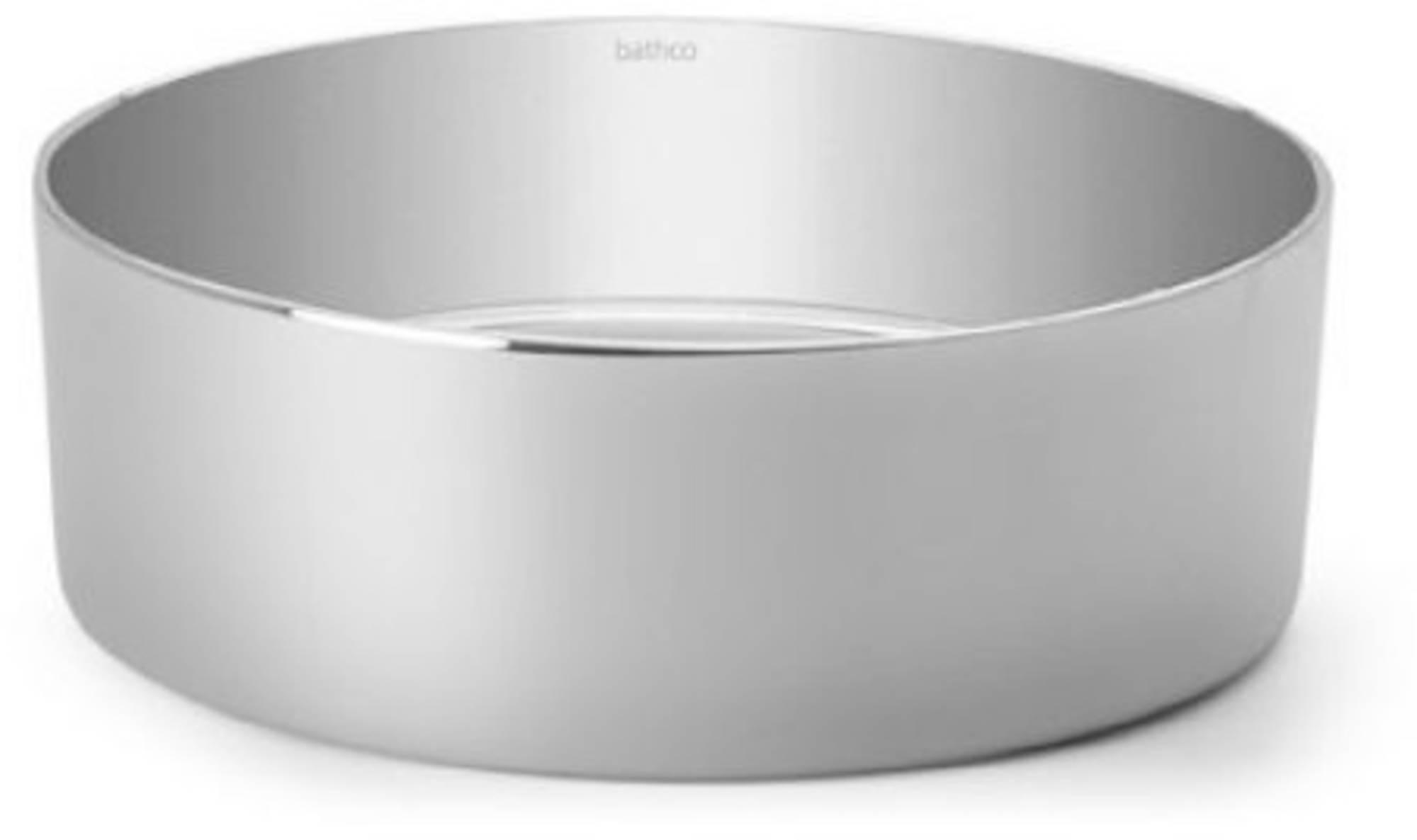 Bathco Dinan Opzetkom Ø 38x15 cm Silver