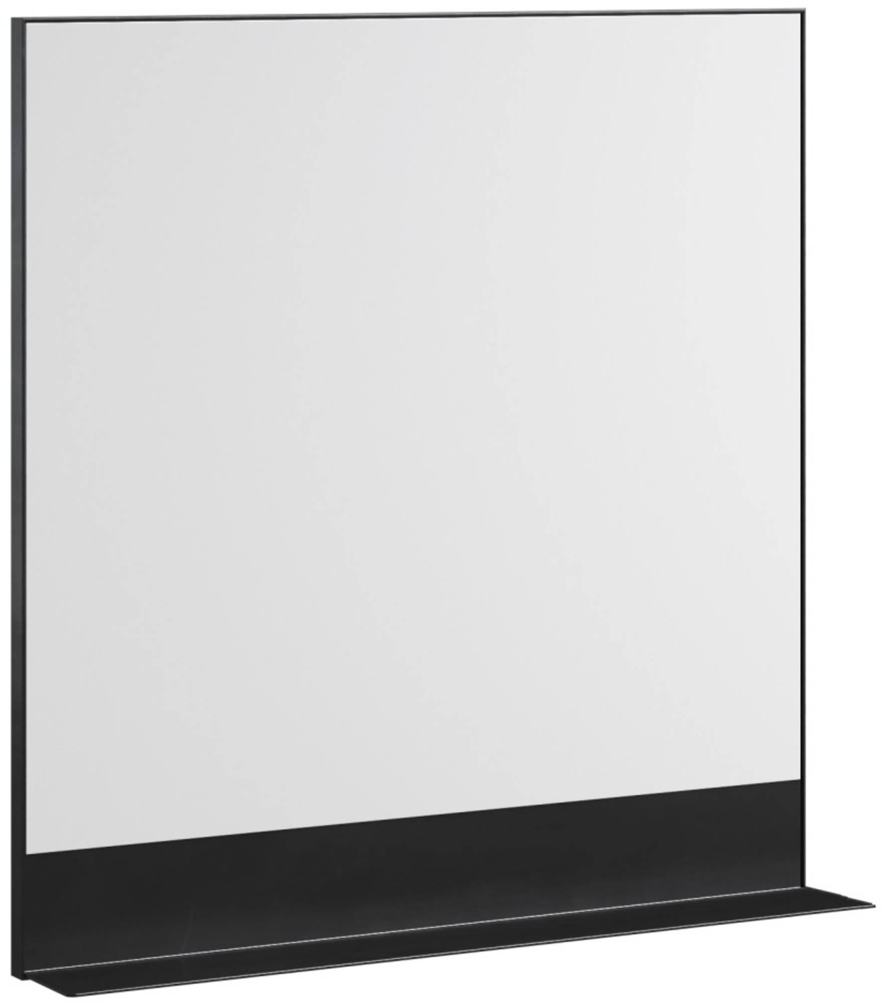 Thebalux Shelf Black Spiegel 80x12,2x80,5 cm Zwart