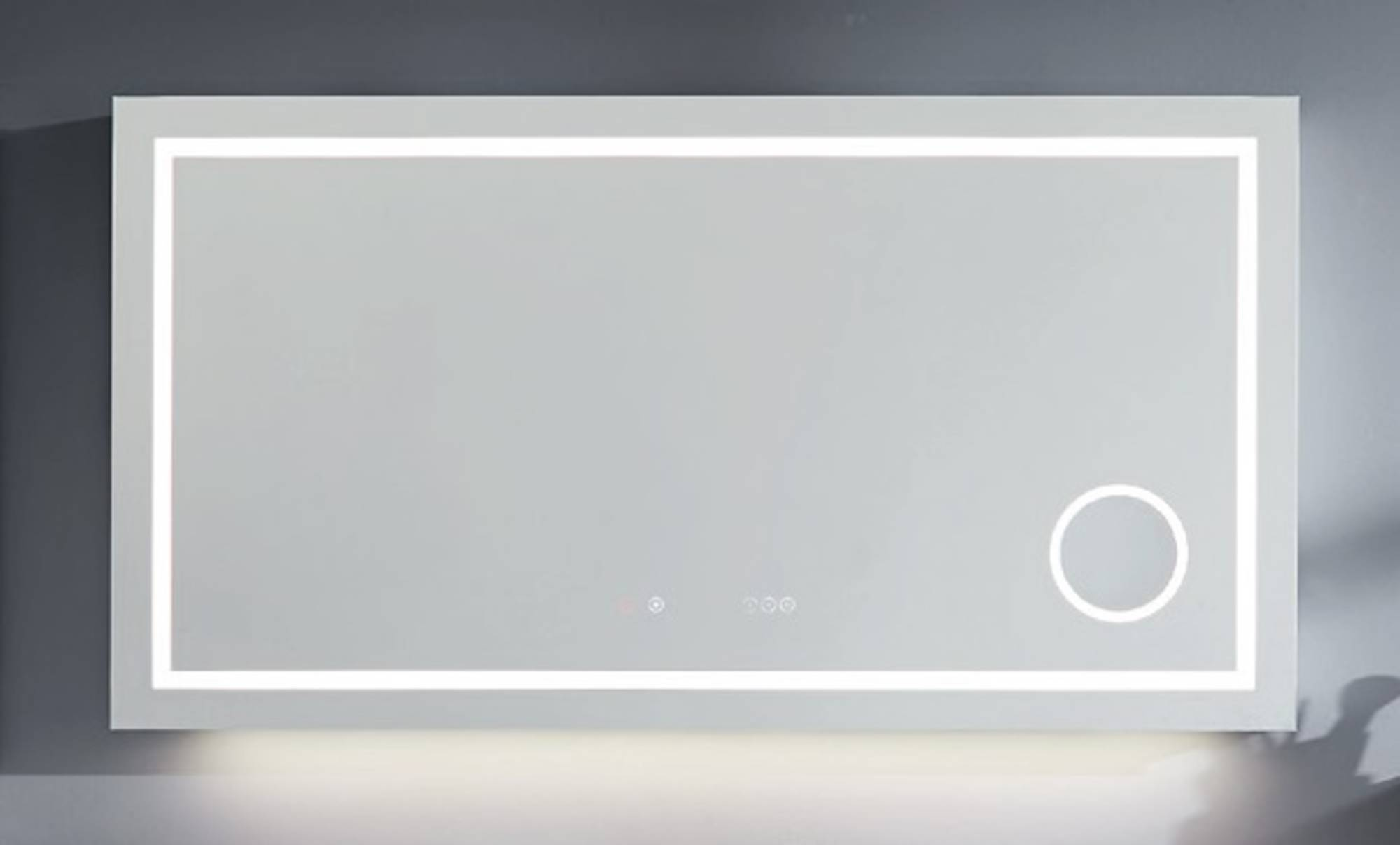 Line 45 Spiegel Rechthoekig 80x7x75 cm met LED Verlichting, Verwarming, Touch Bediening, Bluetooth a
