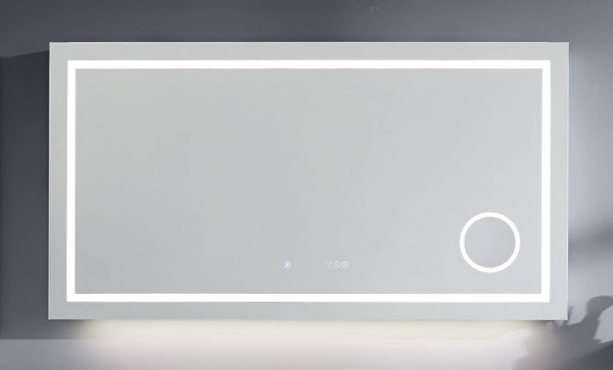 Line 45 Spiegel Rechthoekig 100x7x75 cm met LED Verlichting, Verwarming, Touch Bediening, Bluetooth