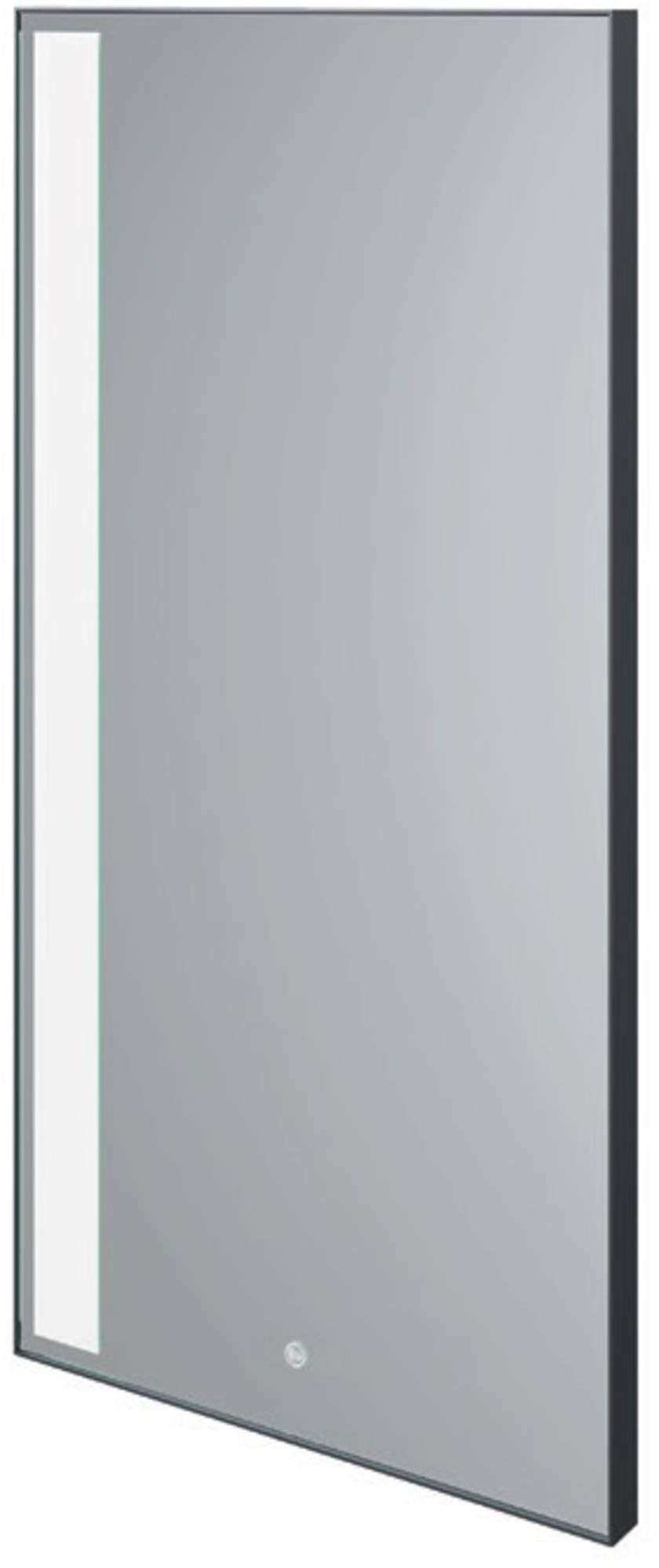 Thebalux Vertical Spiegel 50x3,6x100 cm Zwart