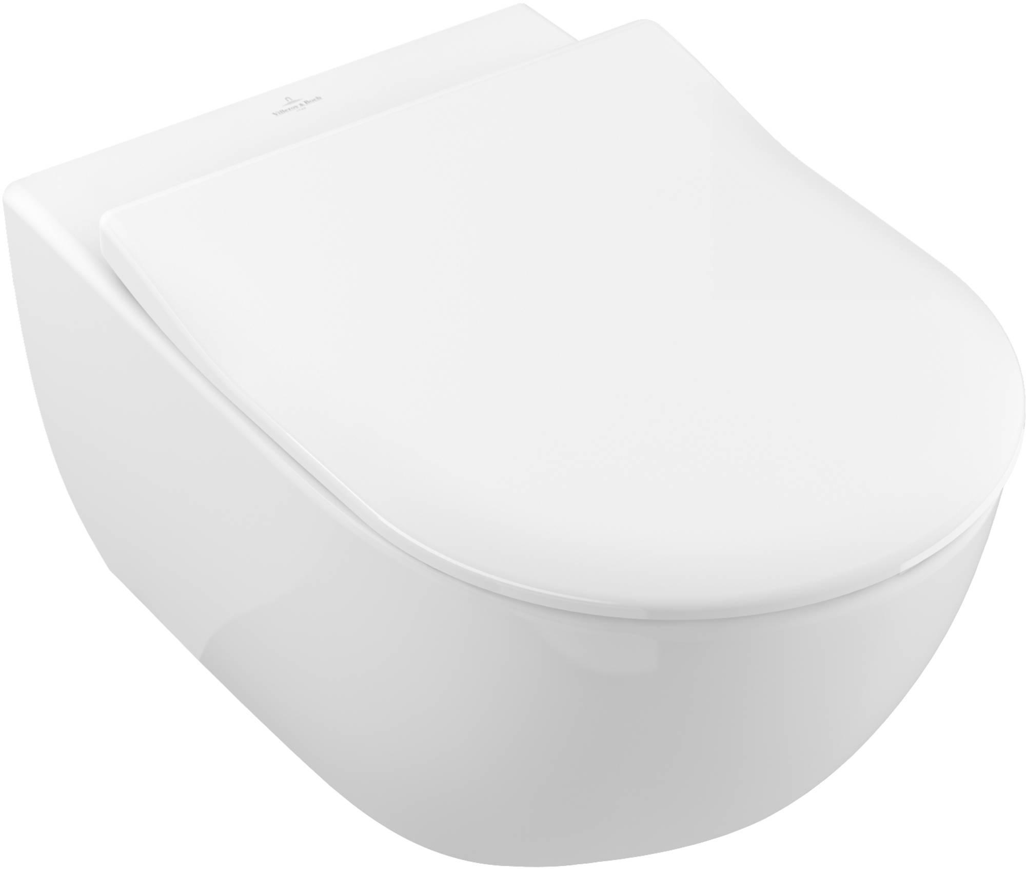 Villeroy & Boch Wandcloset Direct Flush Slimseat zitting Ceramic Plus Wit