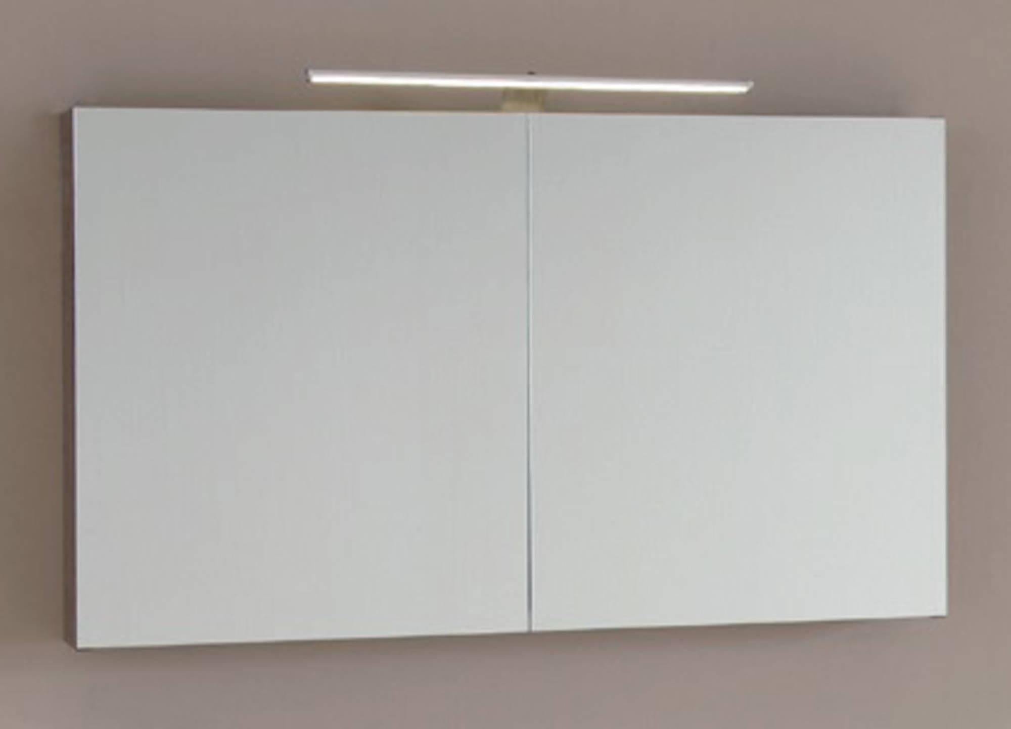 Line 45 Spiegelkast 120x13,5x60 cm excl. Verlichting Beton Zilver