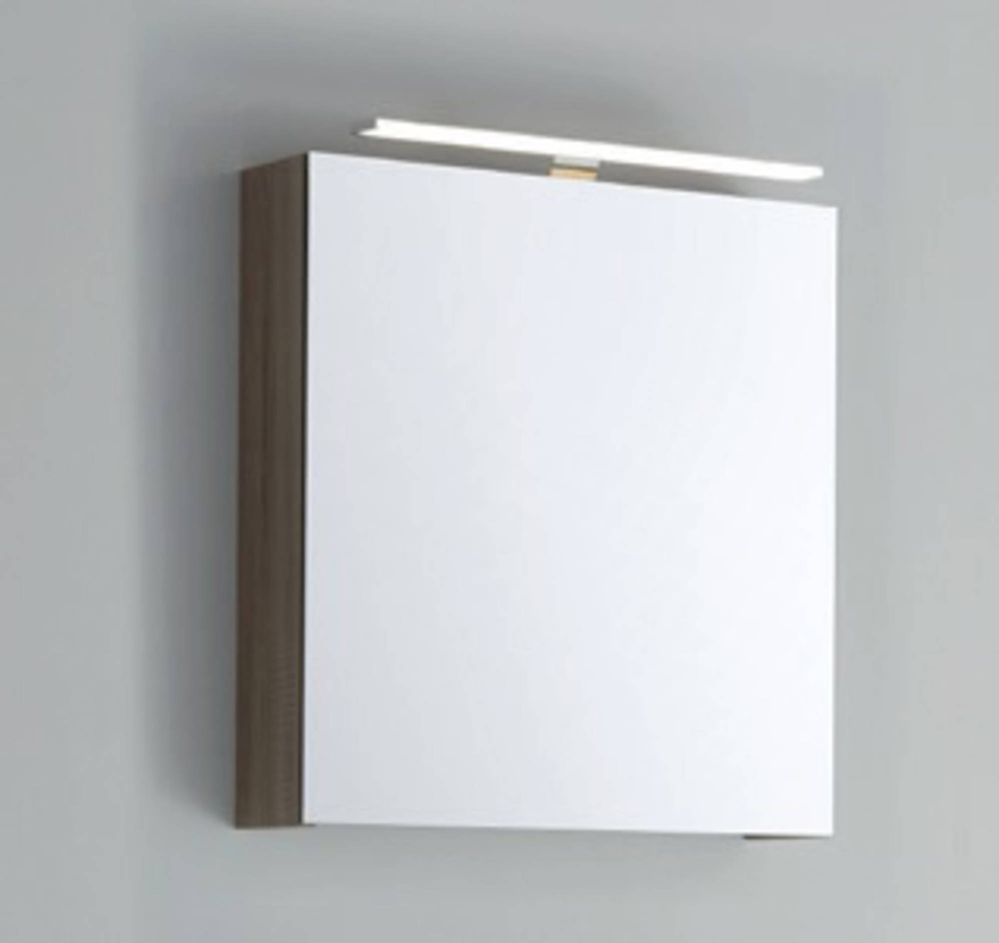 Line 45 Spiegelkast Rechtsdraaiend 60x13,5x60 cm excl. Verlichting Nebraska Eiken