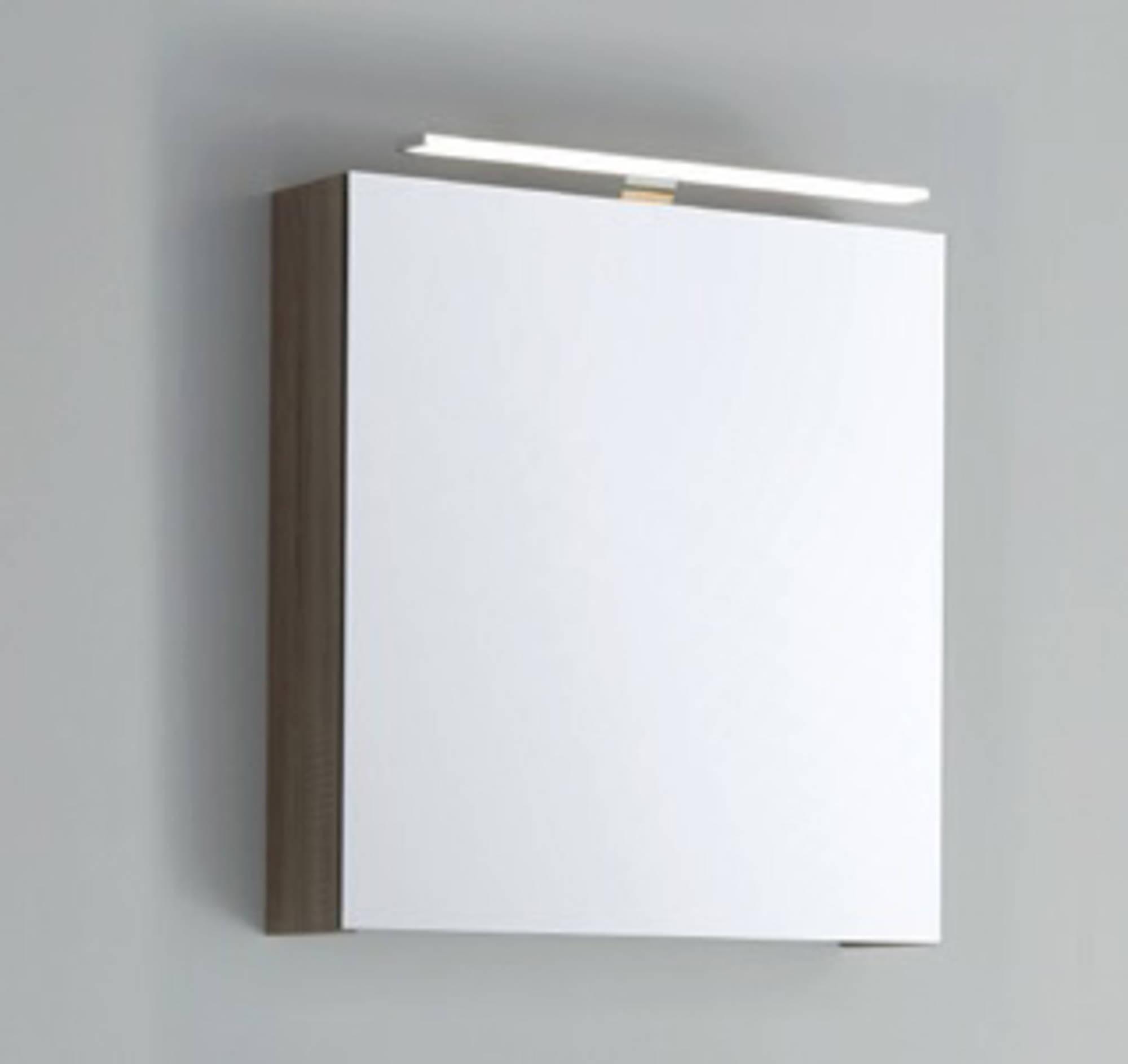 Line 45 Spiegelkast Linksdraaiend 60x13,5x60 cm excl. Verlichting Beton Zilver