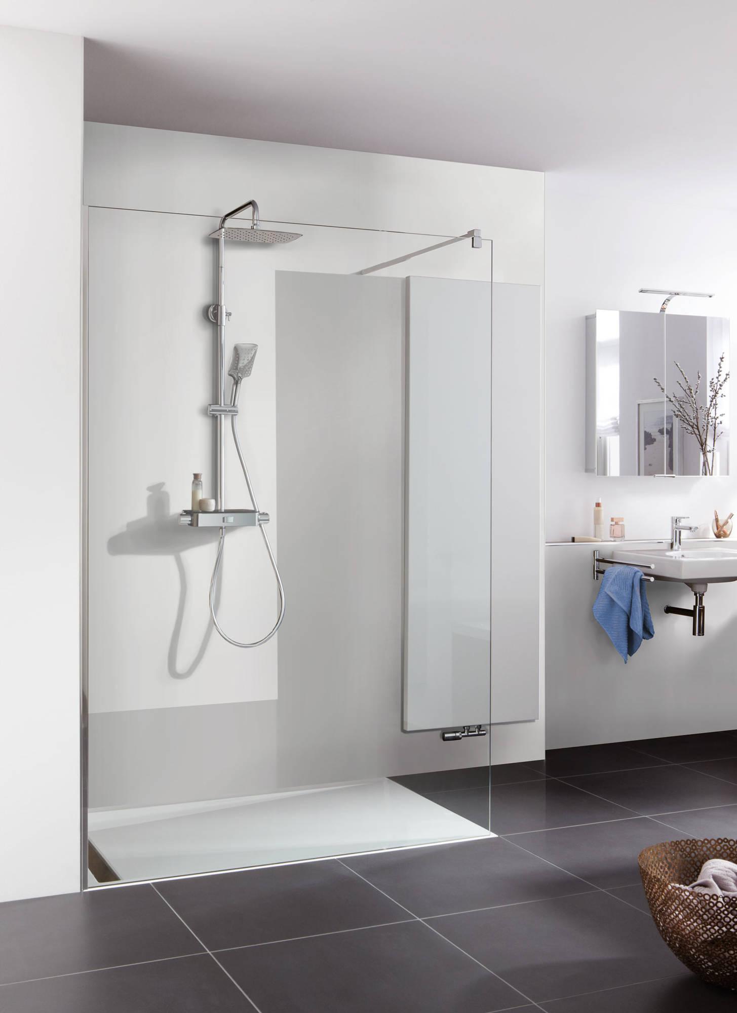 Duschprofi RenoDeco paneel Alu 100x210 cm natuursteen stucwerk-wit