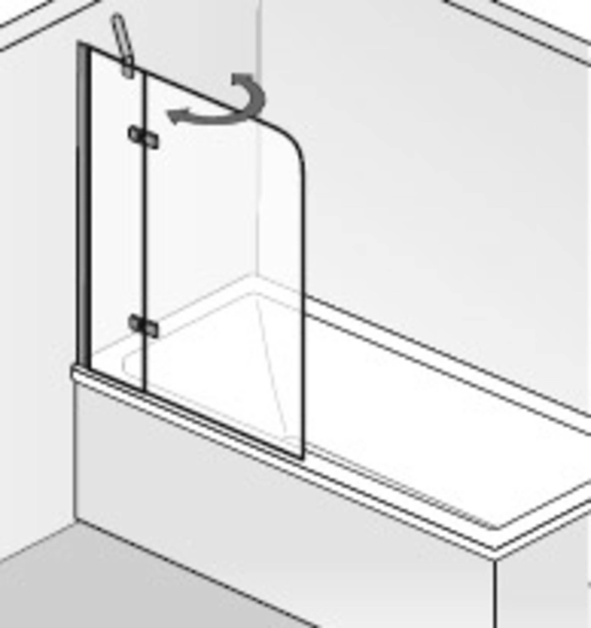 HSK Premium Softcube Badvouwwand 2-delig 100x140 cm chroom helder glas