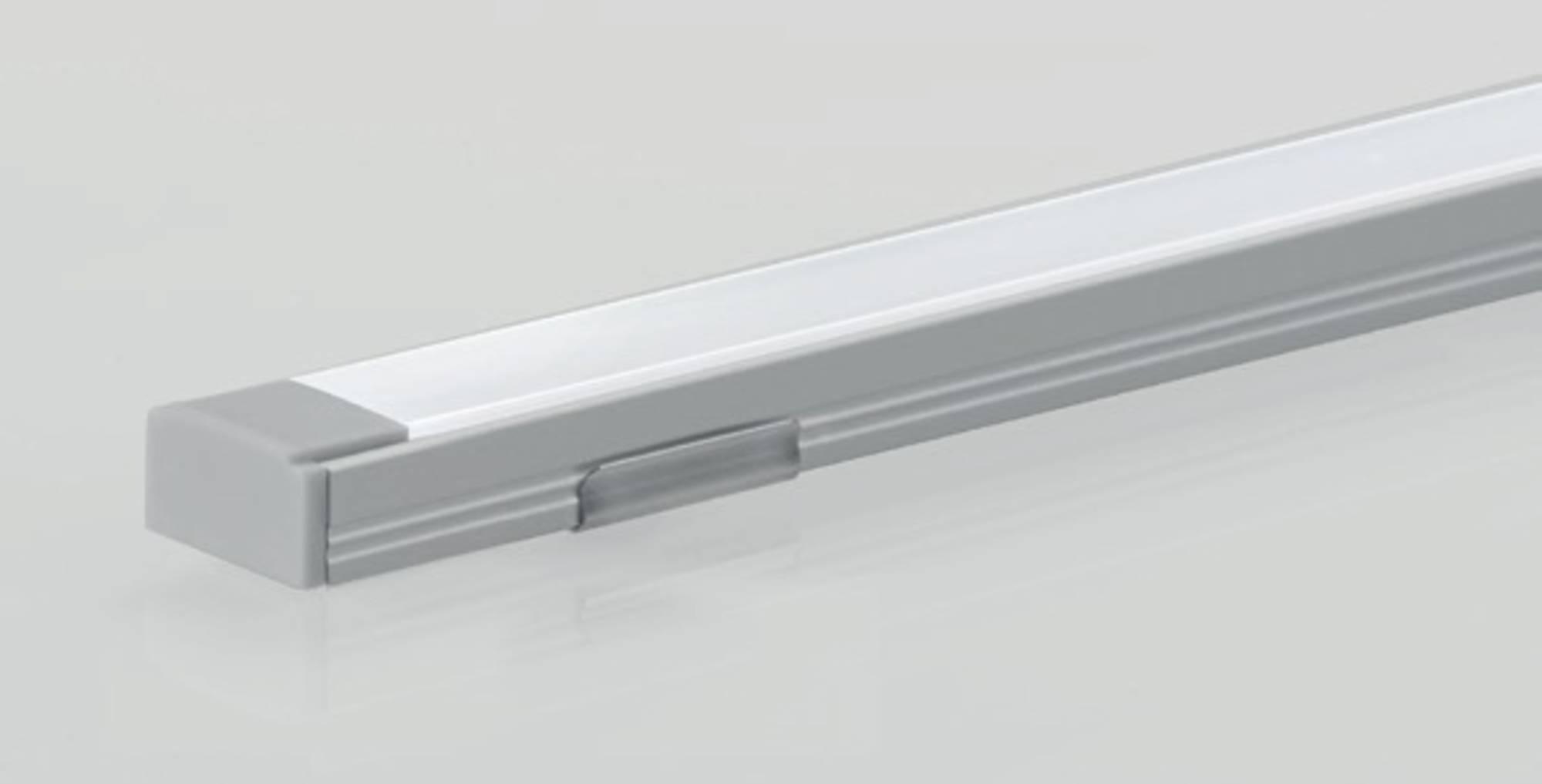 Line 45 LED Strip 50cm Aluminium tbv. Onderzijde Spiegelkast