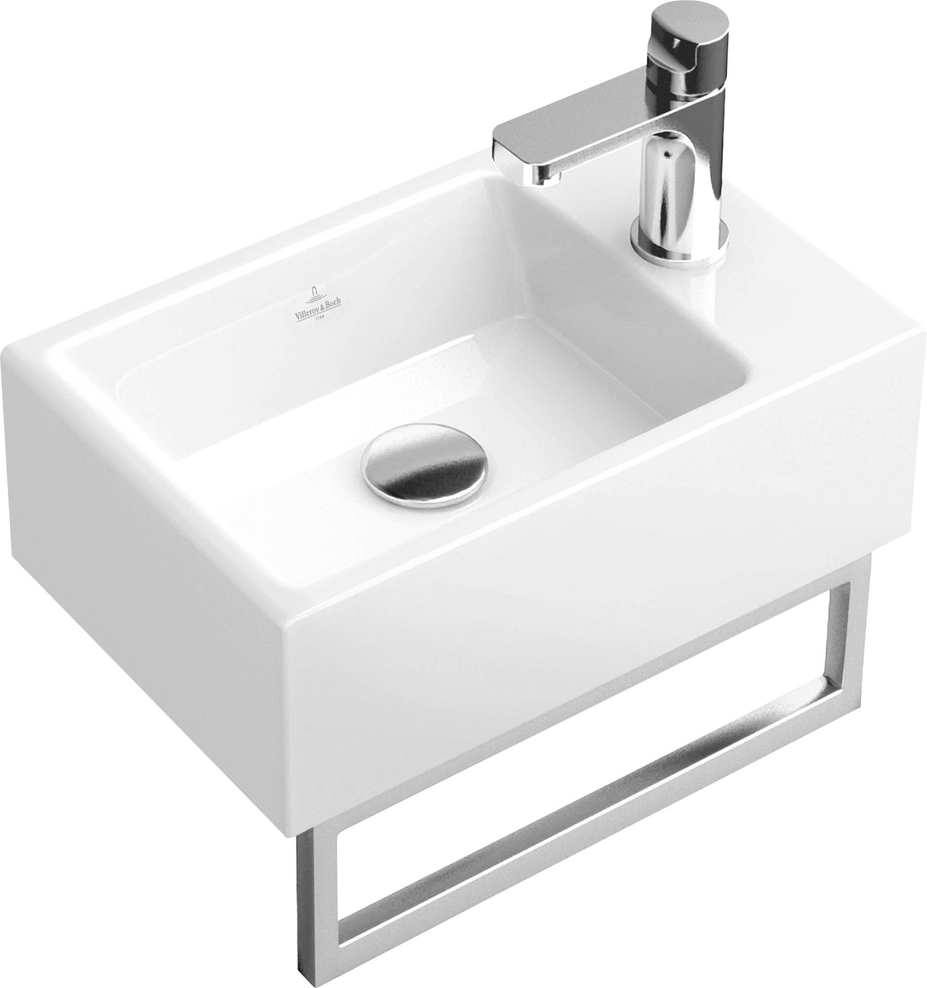 Villeroy & Boch Memento Handdoekhouder voor wastafel 34,5cm Glans RVS